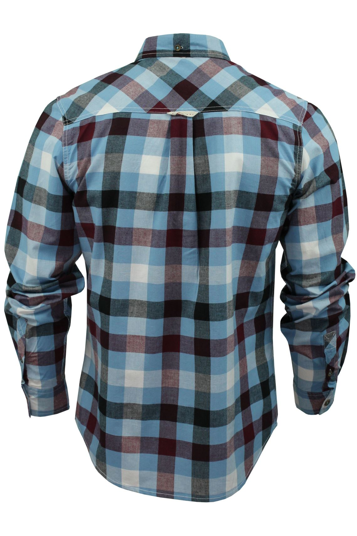 Mens-Check-Shirt-by-Lee-Cooper-039-Hadleigh-039-Long-Sleeved thumbnail 5