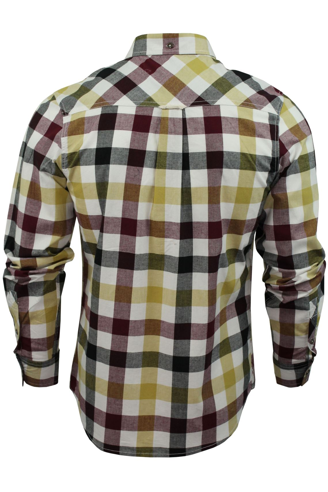 Mens-Check-Shirt-by-Lee-Cooper-039-Hadleigh-039-Long-Sleeved thumbnail 8