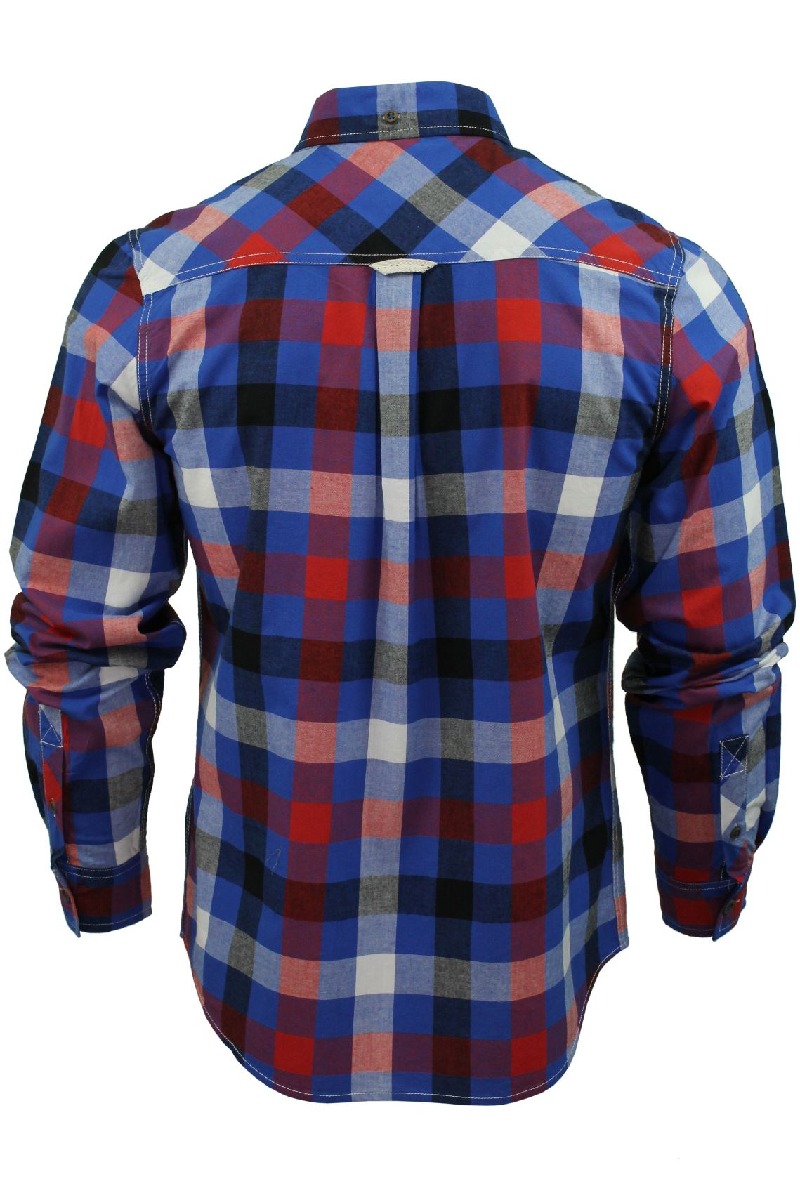 Mens-Check-Shirt-by-Lee-Cooper-039-Hadleigh-039-Long-Sleeved thumbnail 11