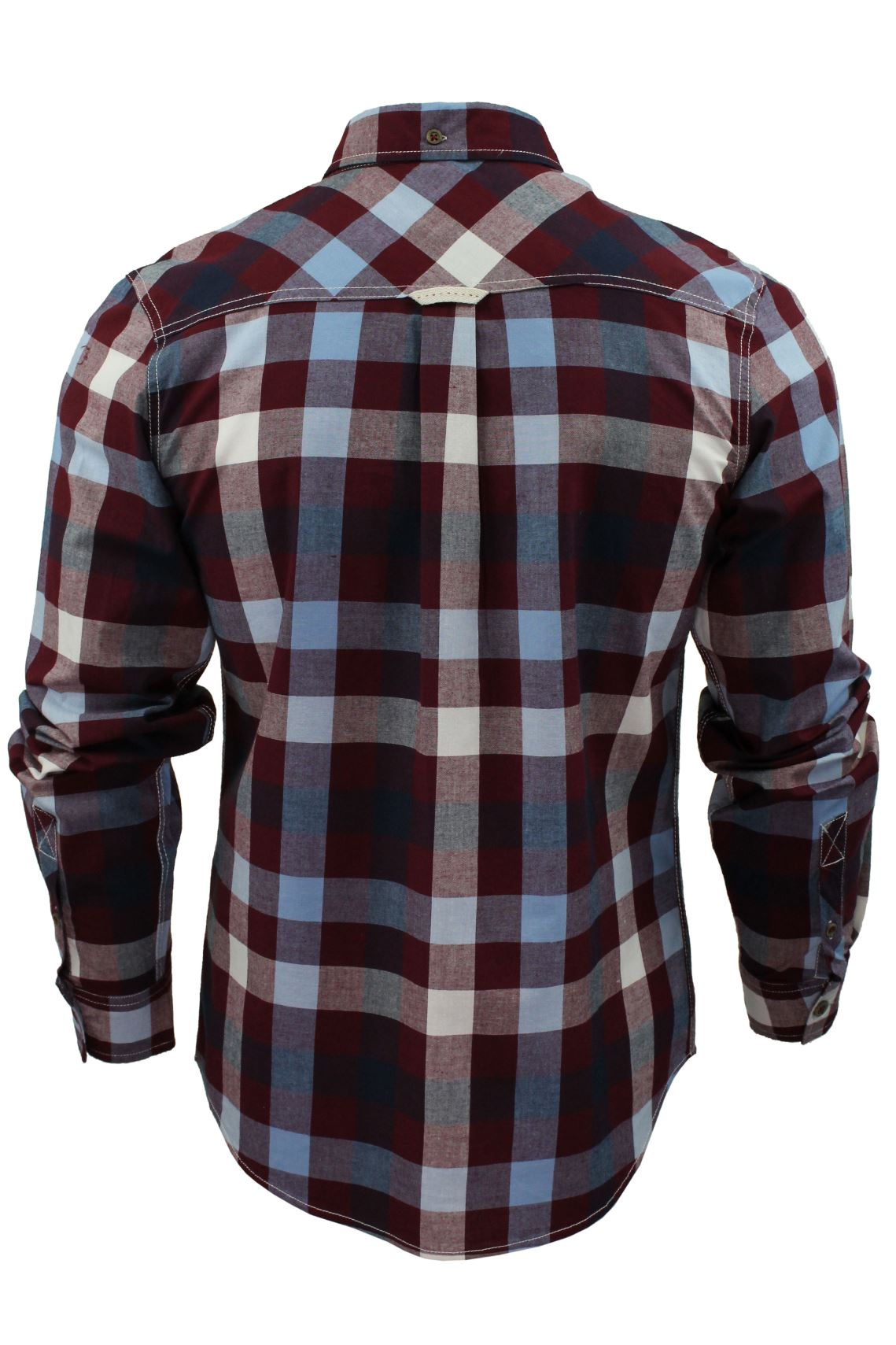 Mens-Check-Shirt-by-Lee-Cooper-039-Hadleigh-039-Long-Sleeved thumbnail 14