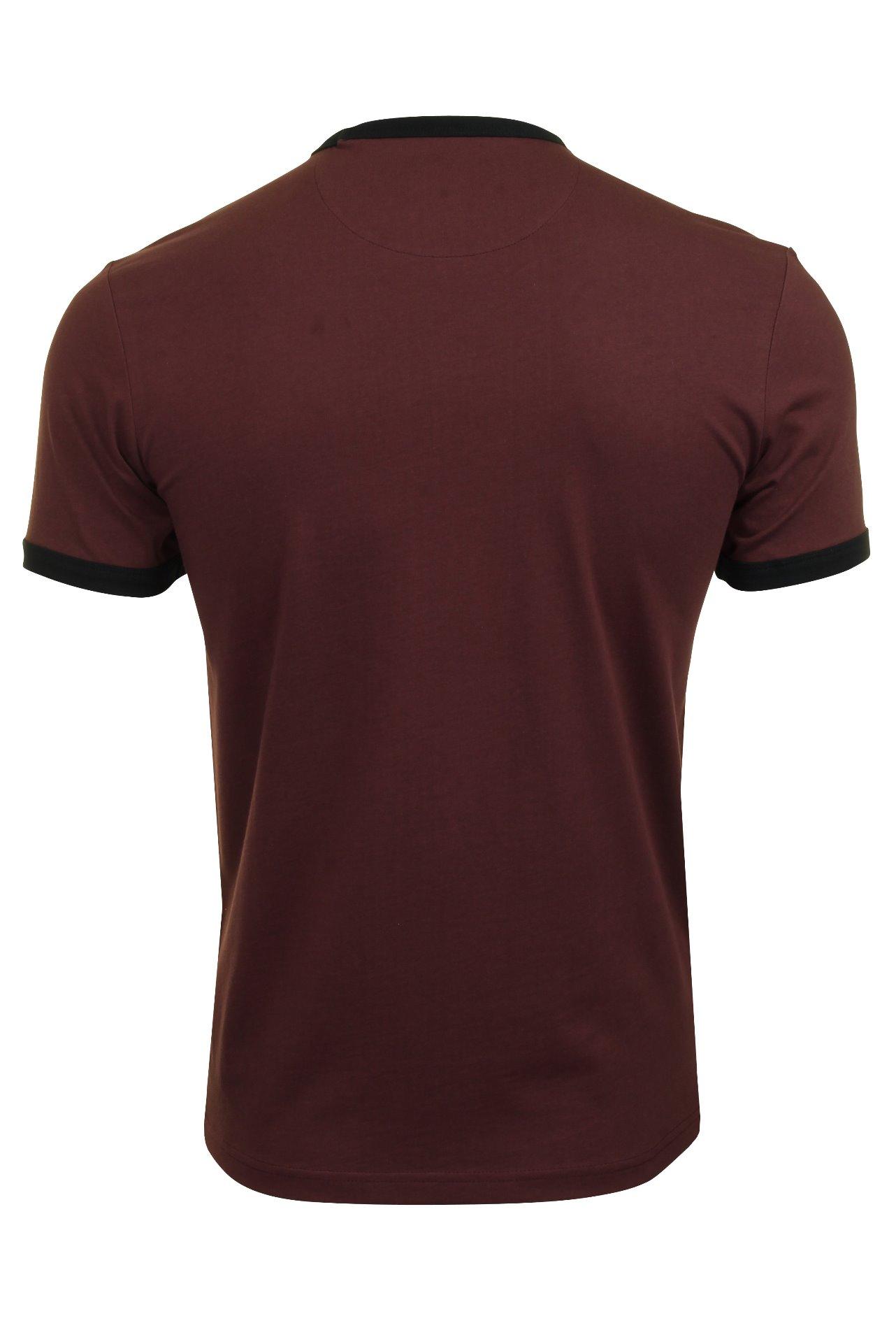 Short Sleeved Farah Mens Crew Neck T-Shirt Groves Ringer Tee