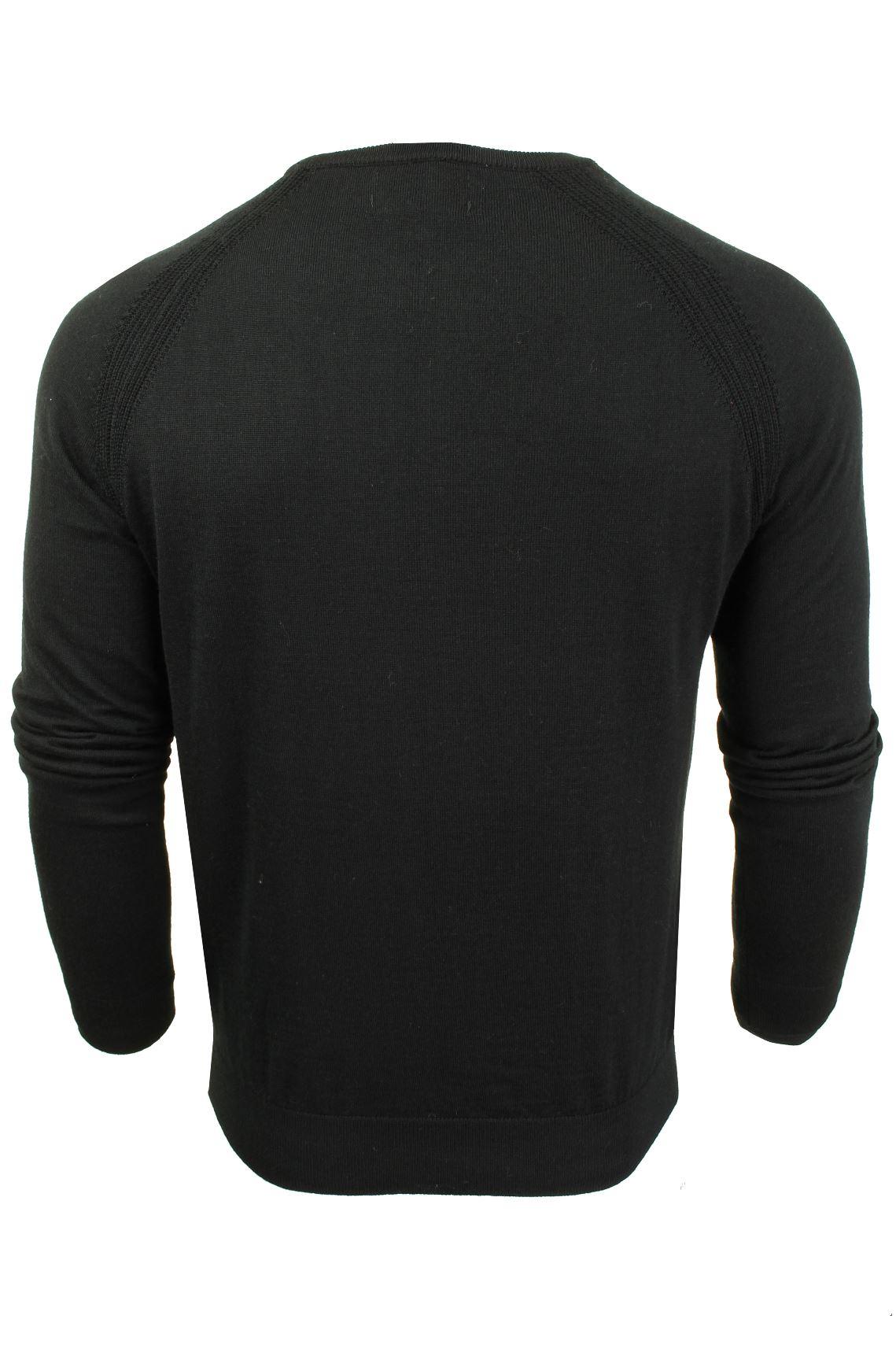Jersey-para-hombre-ligero-100-lana-por-desgastado-034-Troya-034-Cuello-Redondo miniatura 11