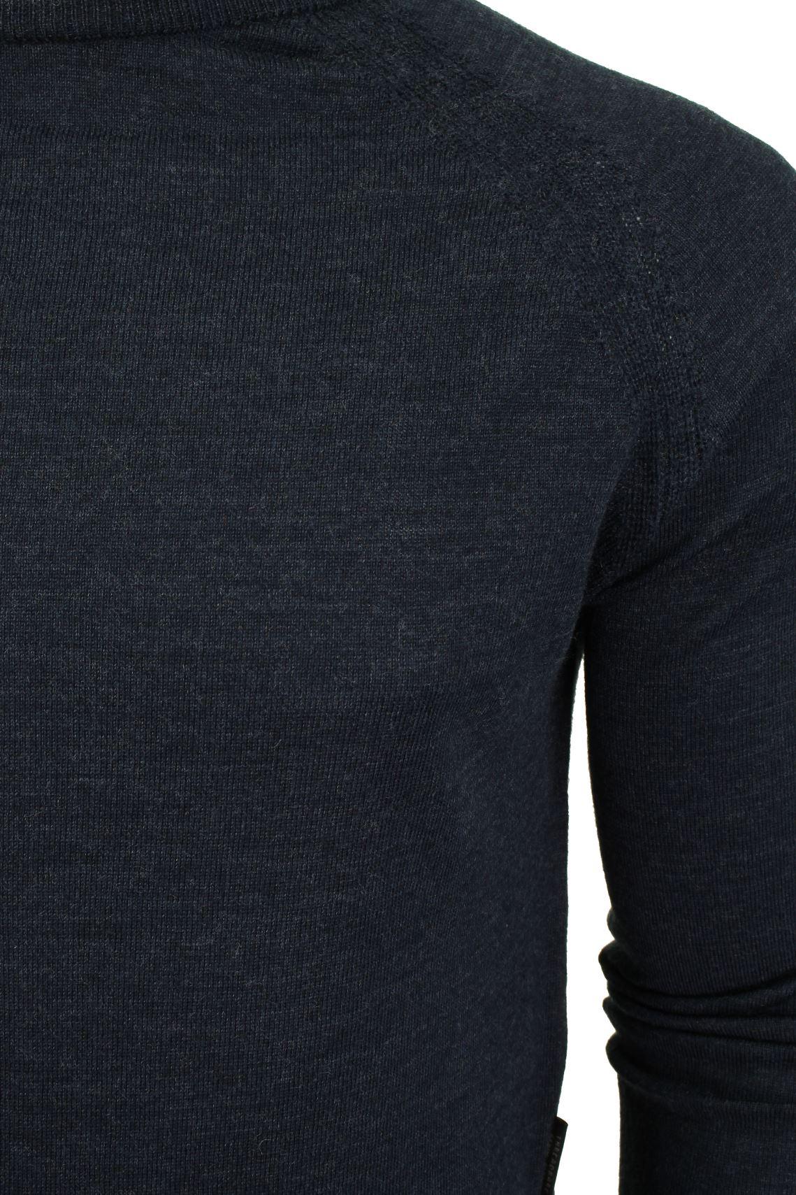 Jersey-para-hombre-ligero-100-lana-por-desgastado-034-Troya-034-Cuello-Redondo miniatura 4