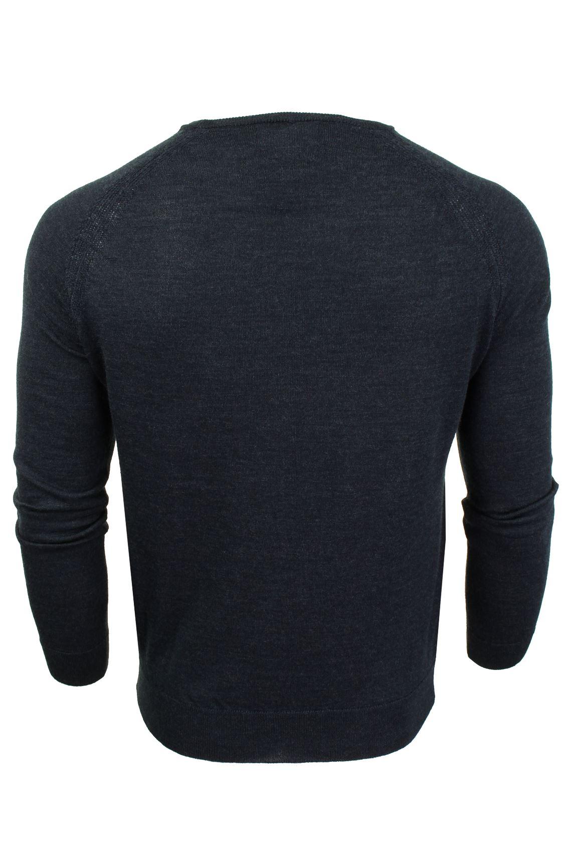 Jersey-para-hombre-ligero-100-lana-por-desgastado-034-Troya-034-Cuello-Redondo miniatura 5