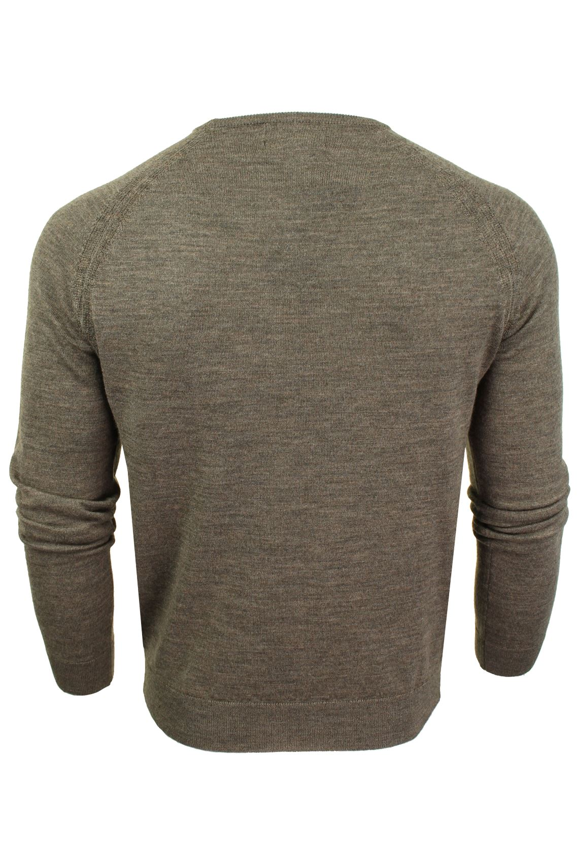 Jersey-para-hombre-ligero-100-lana-por-desgastado-034-Troya-034-Cuello-Redondo miniatura 8