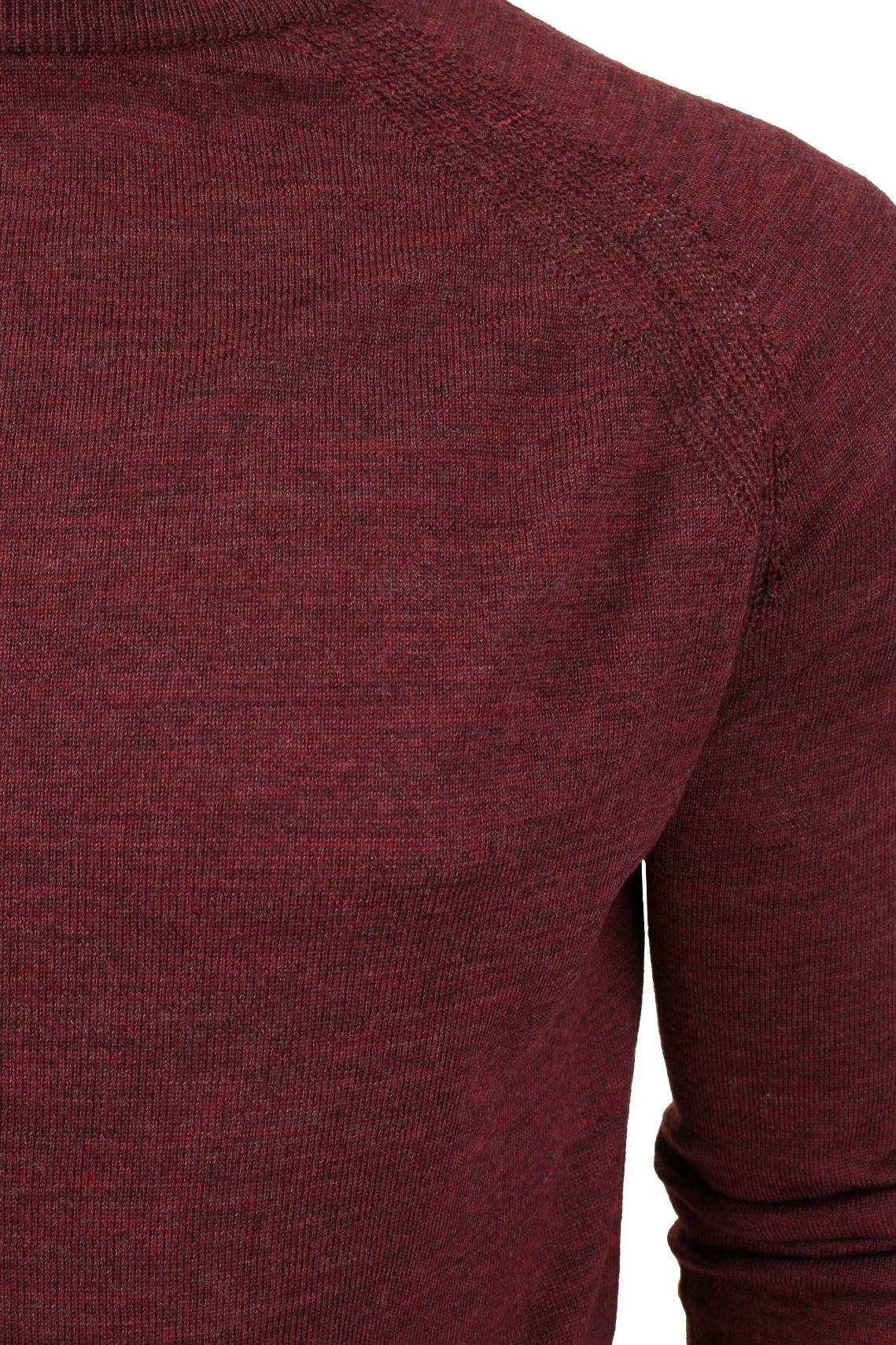 Jersey-para-hombre-ligero-100-lana-por-desgastado-034-Troya-034-Cuello-Redondo miniatura 13
