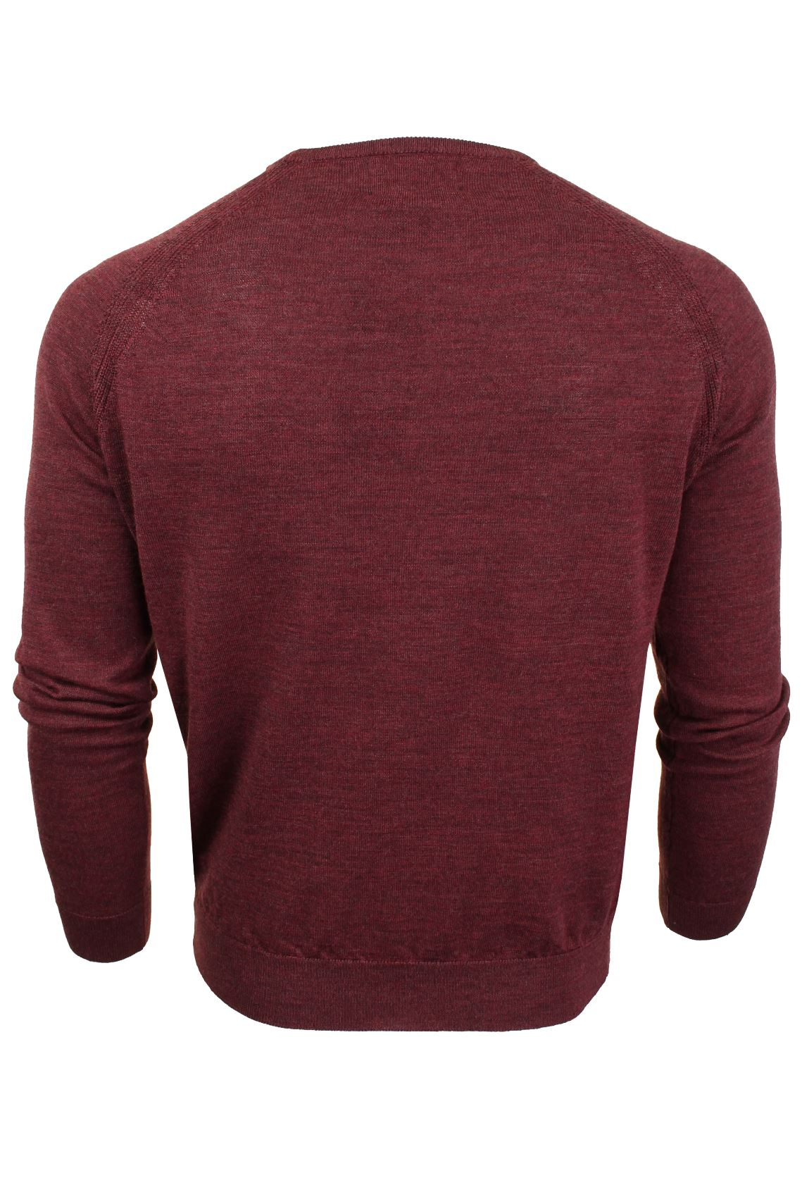 Jersey-para-hombre-ligero-100-lana-por-desgastado-034-Troya-034-Cuello-Redondo miniatura 14