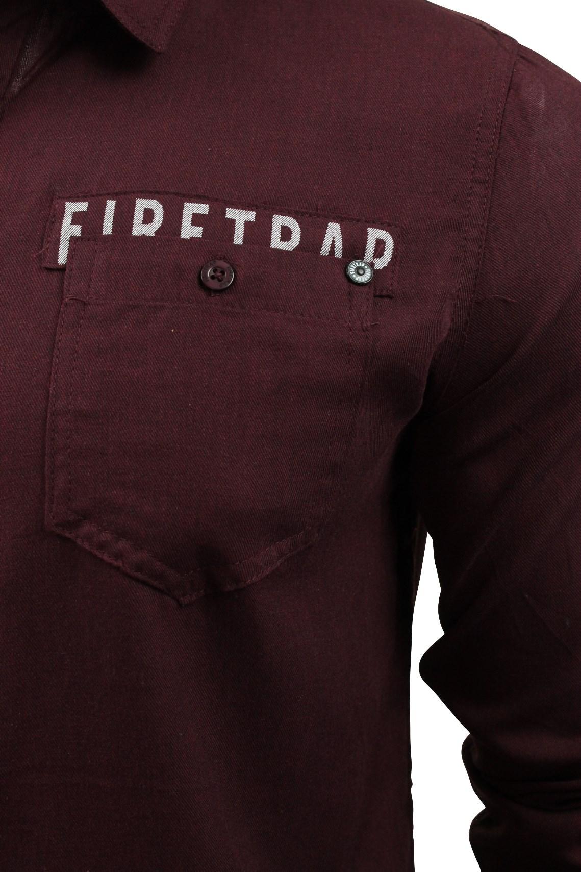 Camisa-para-hombre-por-Firetrap-039-Pittson-039-Manga-Larga miniatura 7