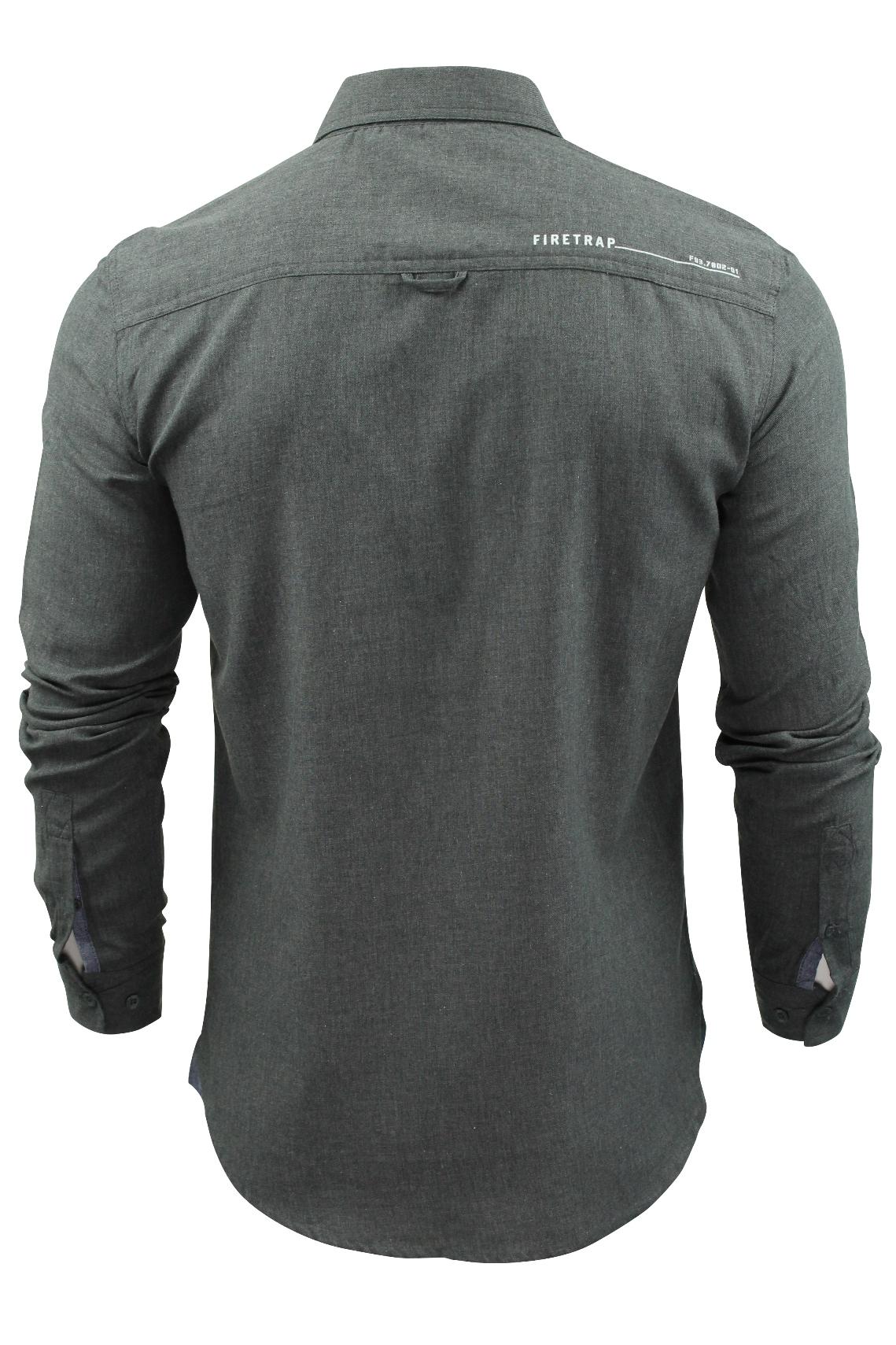 Camisa-para-hombre-por-Firetrap-039-Pittson-039-Manga-Larga miniatura 11