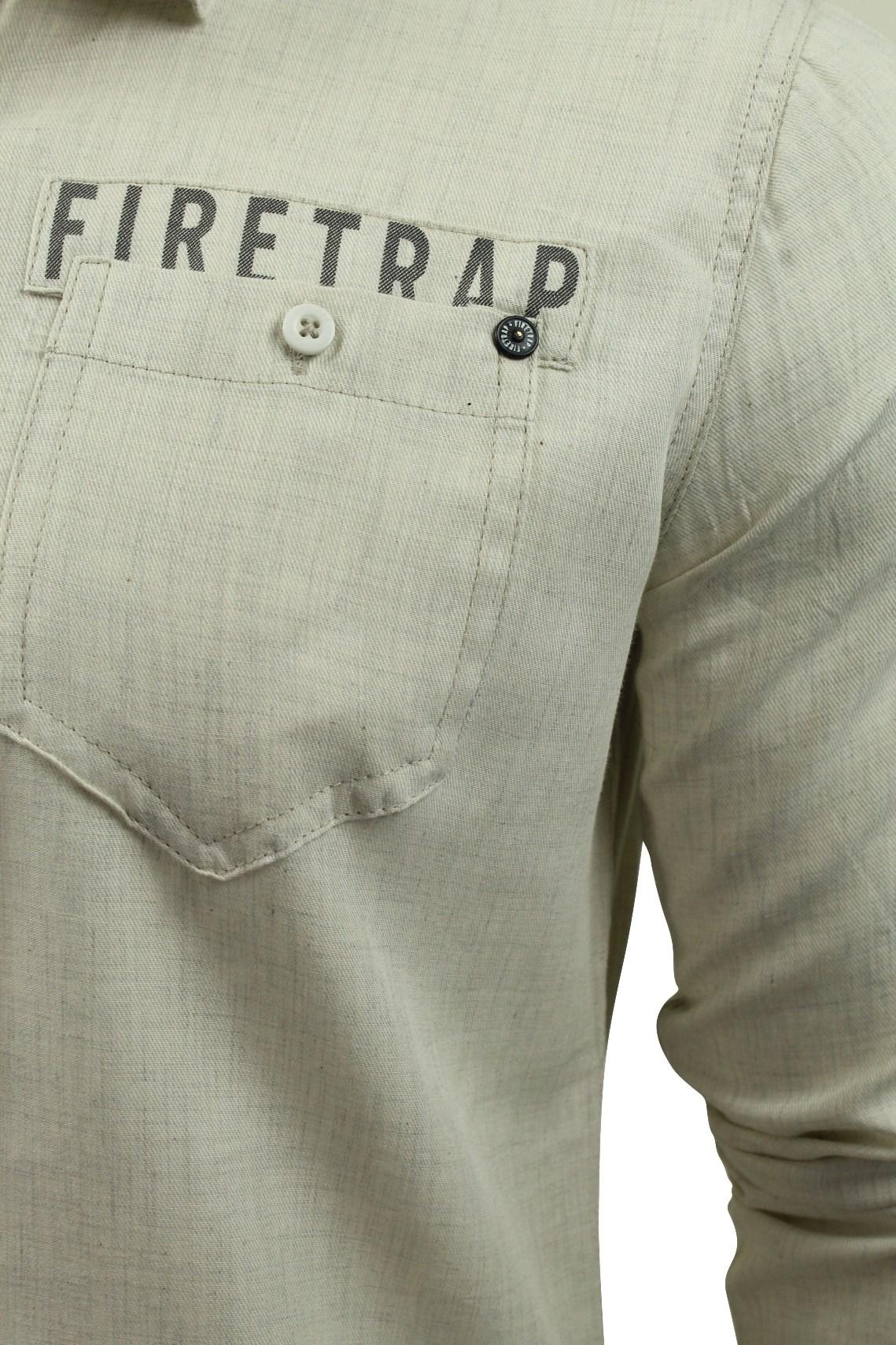 Camisa-para-hombre-por-Firetrap-039-Pittson-039-Manga-Larga miniatura 13