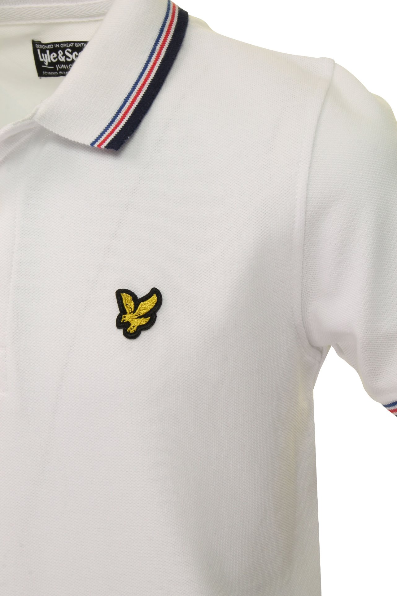 Lyle-amp-Scott-Boys-Junior-Tipped-Polo-T-Shirt thumbnail 4