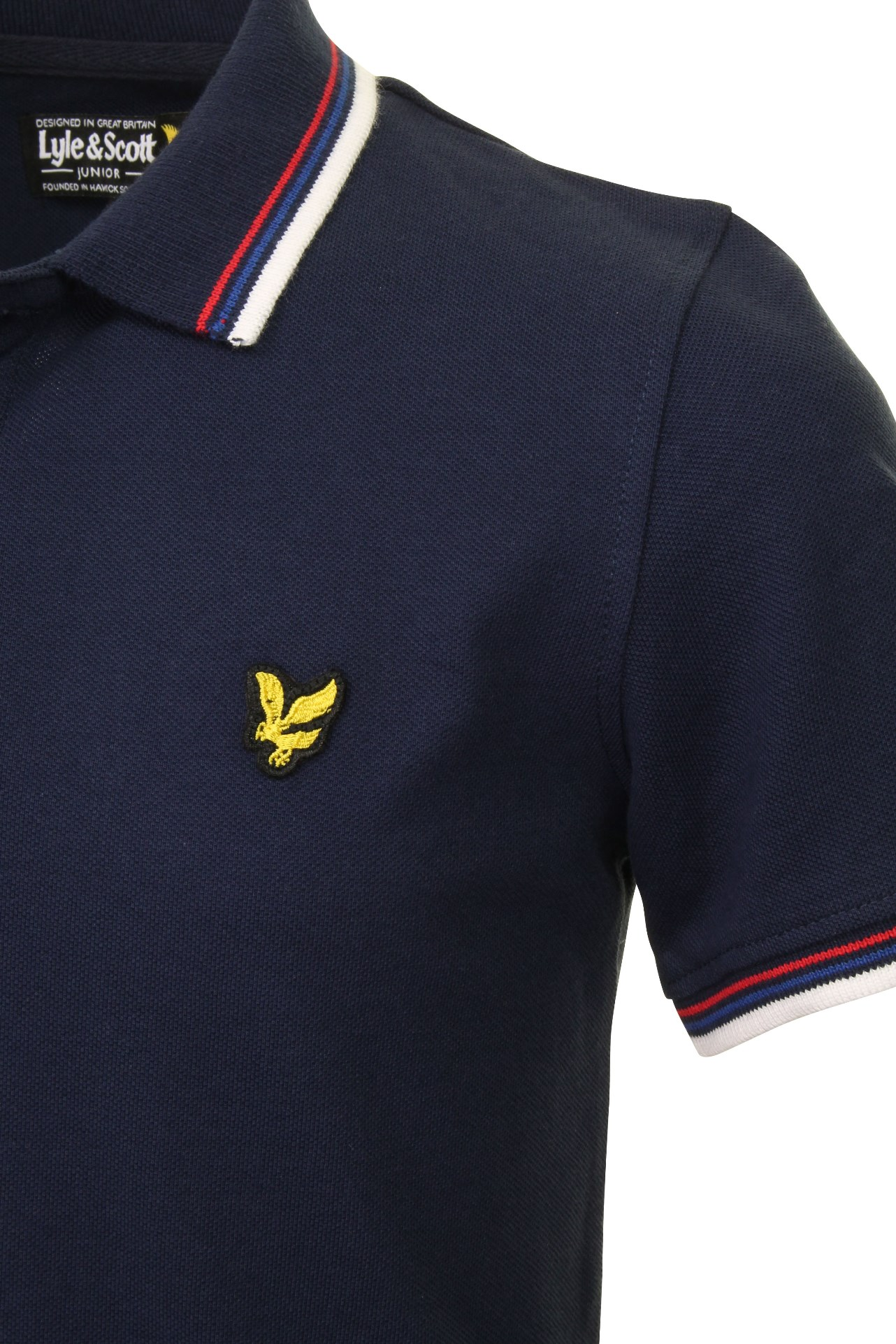 Lyle-amp-Scott-Boys-Junior-Tipped-Polo-T-Shirt thumbnail 7