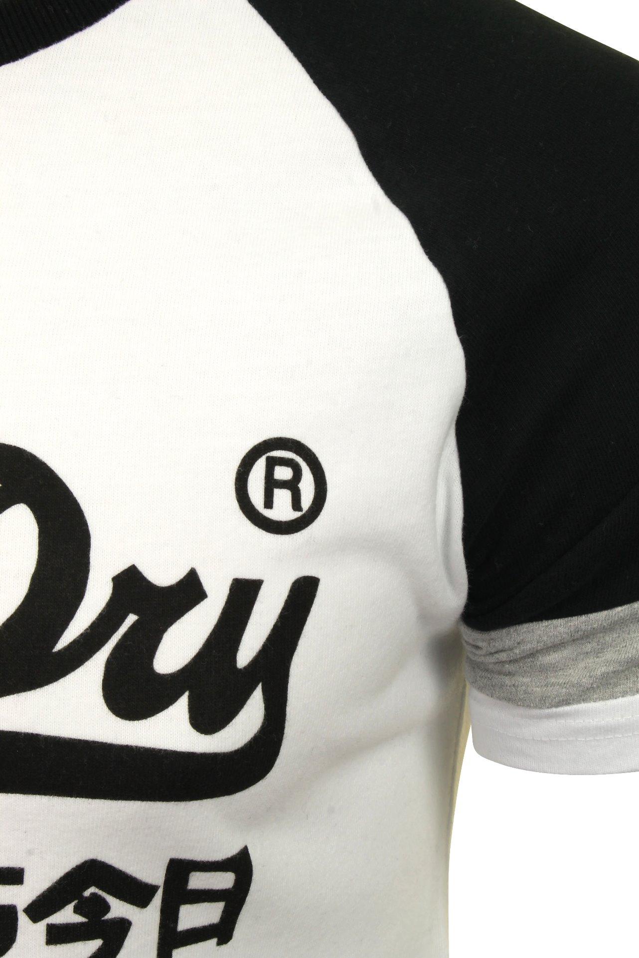 Superdry-Homme-Raglan-T-shirt-034-VL-tri-couleur-Raglan-Tee-034-a-Manches-Courtes miniature 4