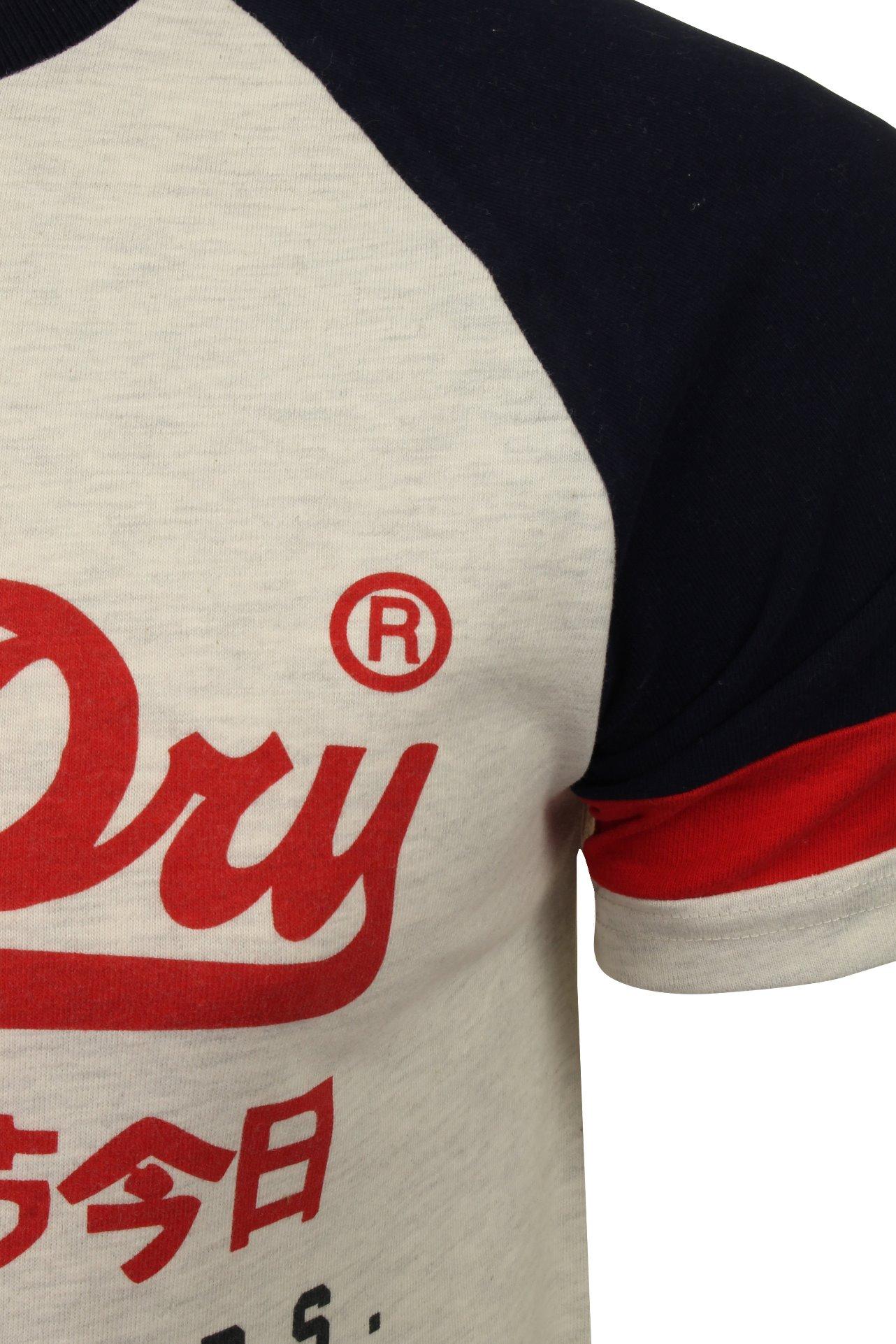 Superdry-Homme-Raglan-T-shirt-034-VL-tri-couleur-Raglan-Tee-034-a-Manches-Courtes miniature 7