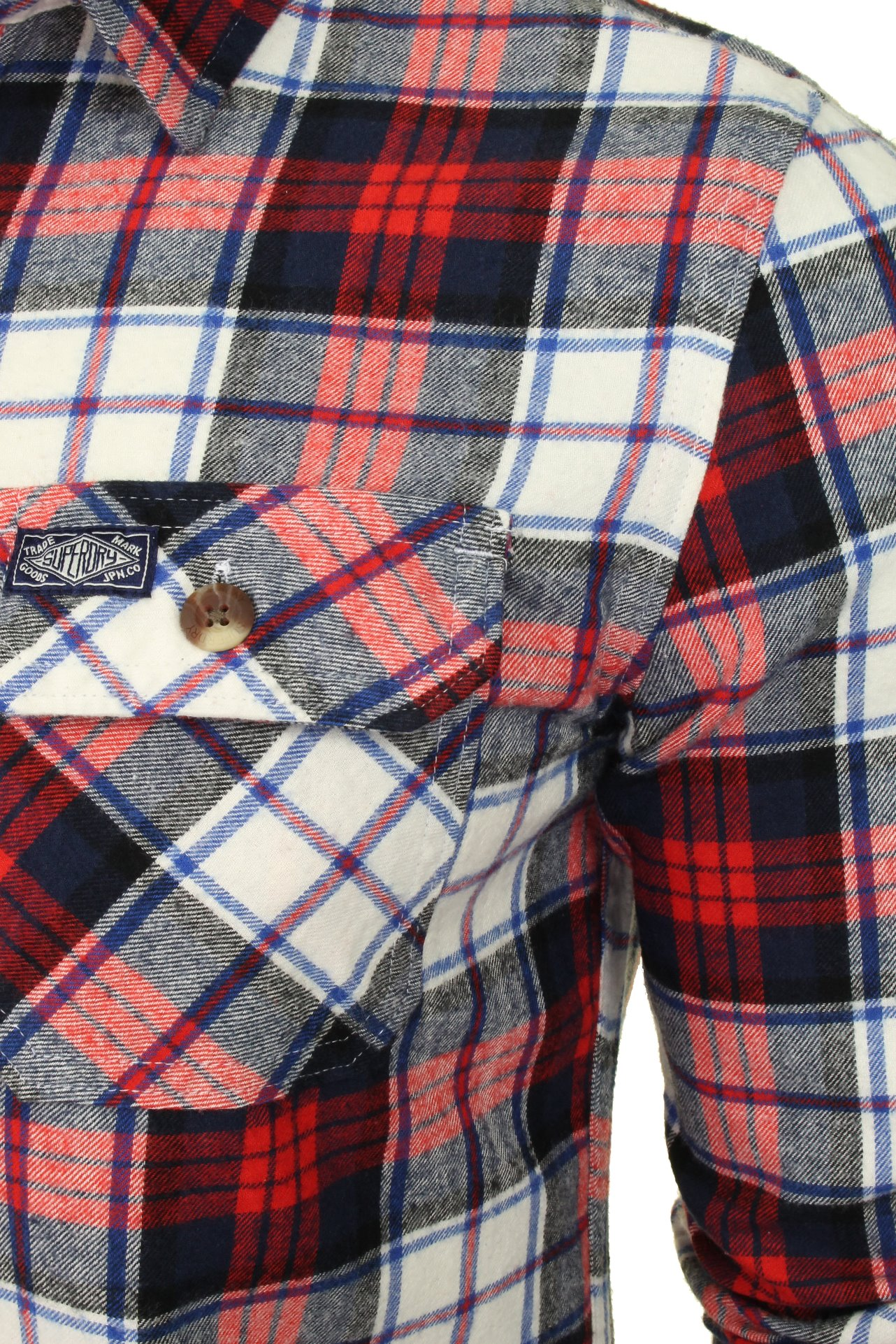 Superdry-Mens-Check-Shirt-039-Classic-Lumberjack-Shirt-039-Long-Sleeved thumbnail 7
