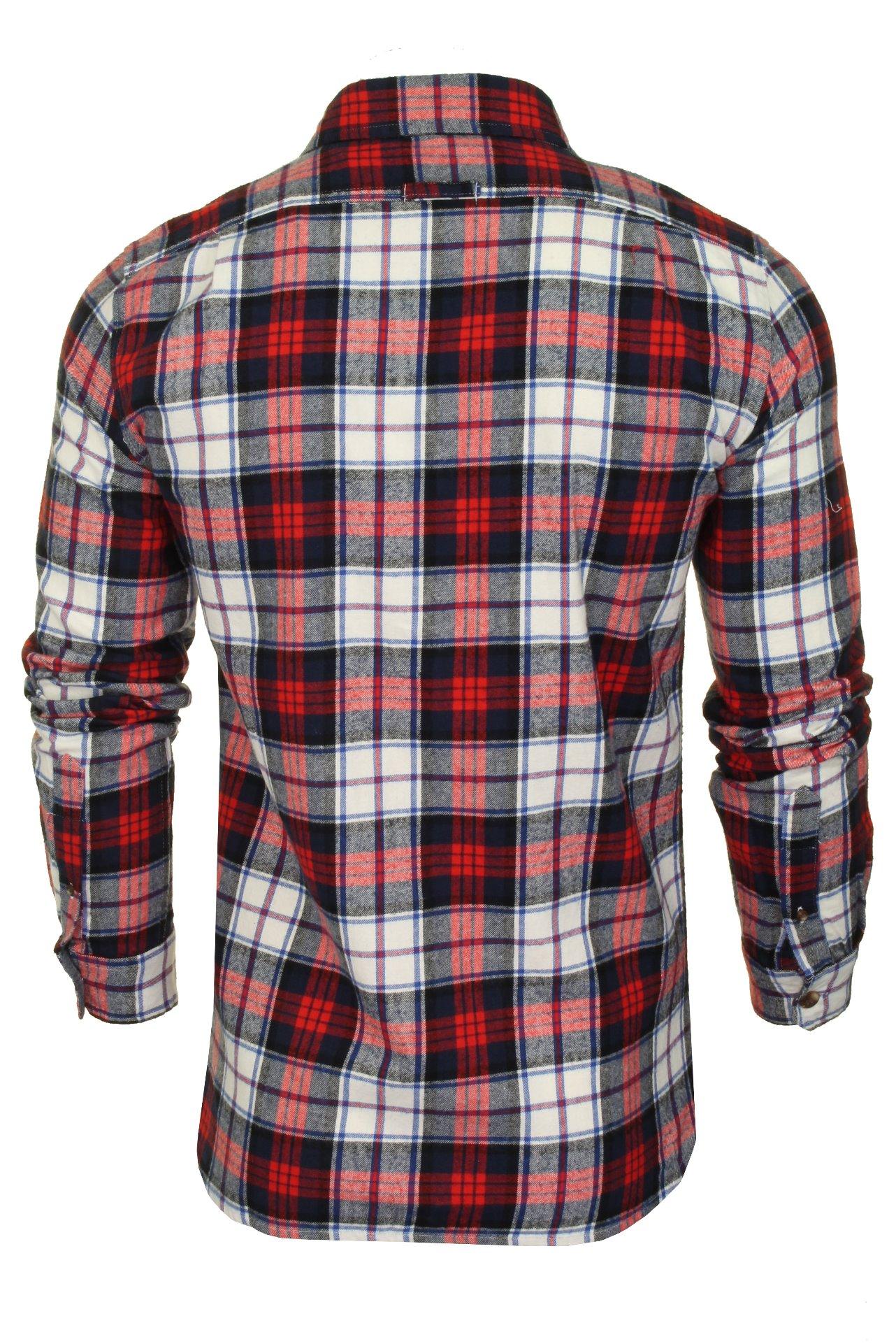 Superdry-Mens-Check-Shirt-039-Classic-Lumberjack-Shirt-039-Long-Sleeved thumbnail 8