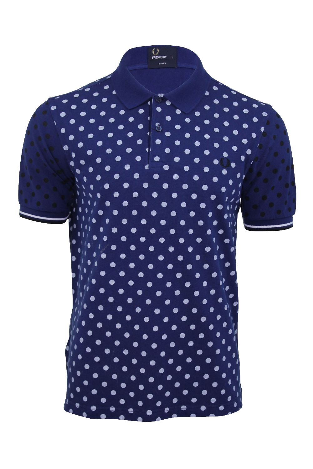 Mens Pique Polo Shirt Fred Perry Polka Dot Print T Shirt ...