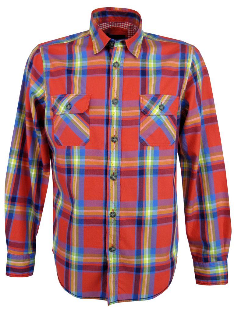 Camisa-Caballero-Ben-Sherman-Cuadros-Manga-Larga-Cruzado-Blanco-Optico