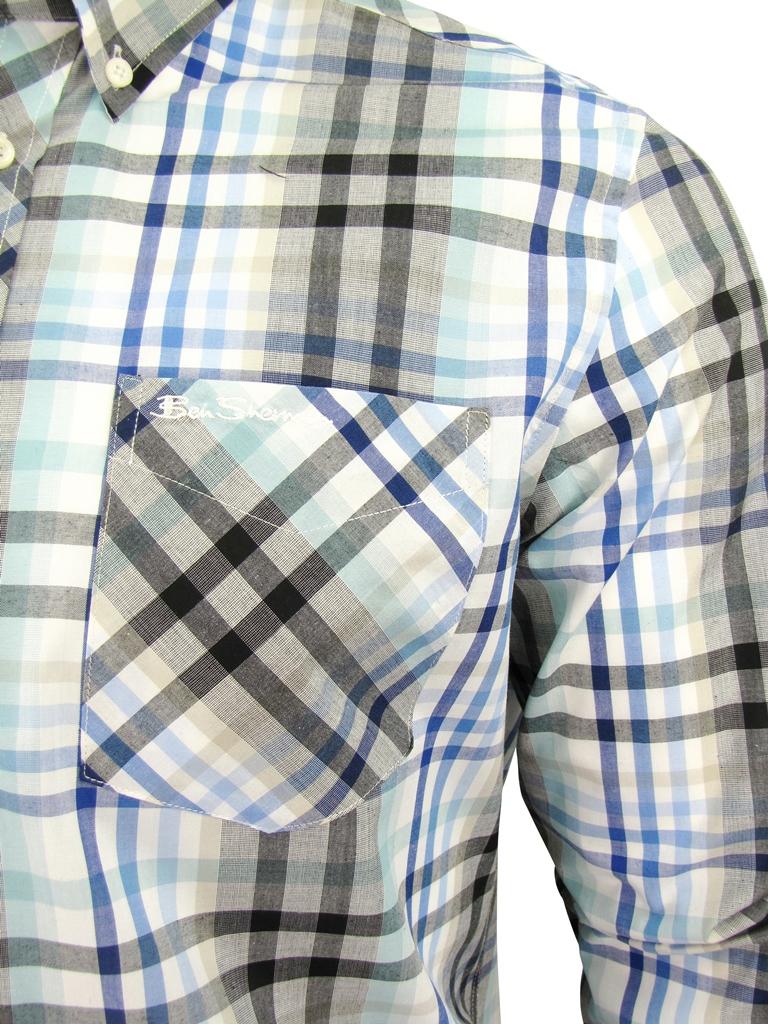 Mens-Ben-Sherman-Fancy-Gingham-Checked-Long-Sleeved-Shirt thumbnail 8
