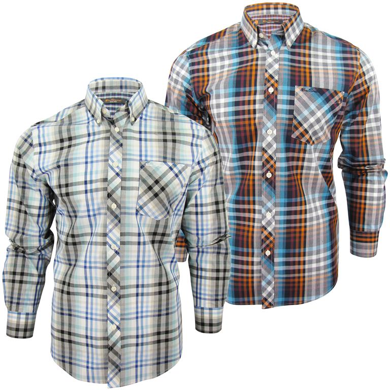 Mens-Ben-Sherman-Fancy-Gingham-Checked-Long-Sleeved-Shirt thumbnail 6