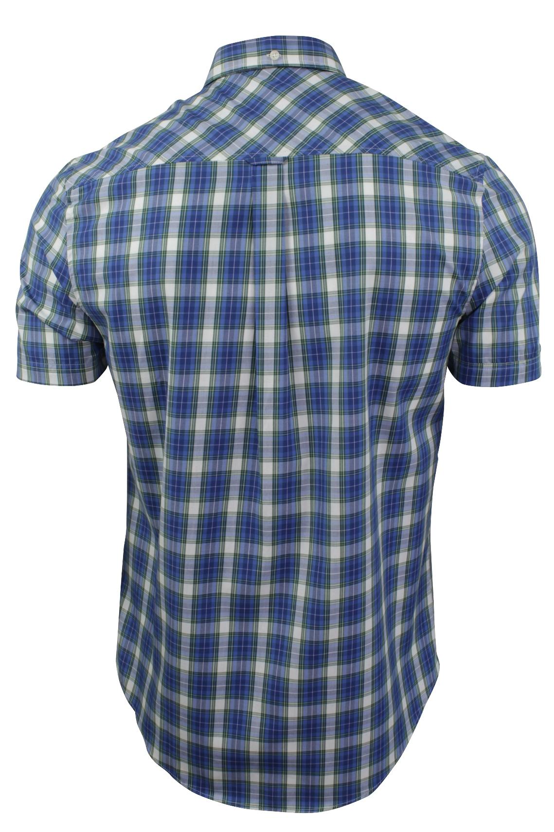 Mens-Tartan-Check-Shirt-by-Ben-Sherman-Short-Sleeved thumbnail 5
