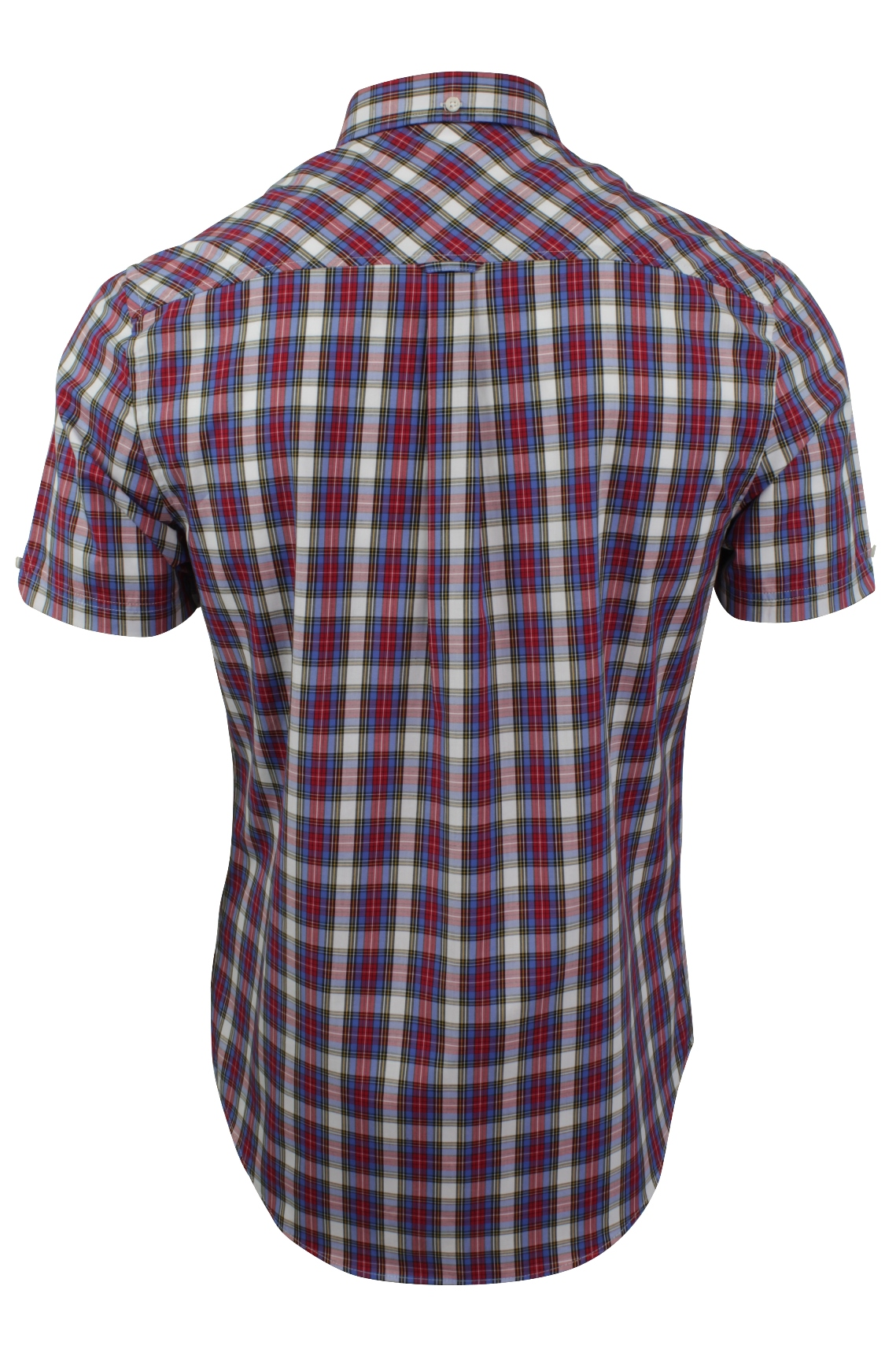 Mens-Tartan-Check-Shirt-by-Ben-Sherman-Short-Sleeved thumbnail 8