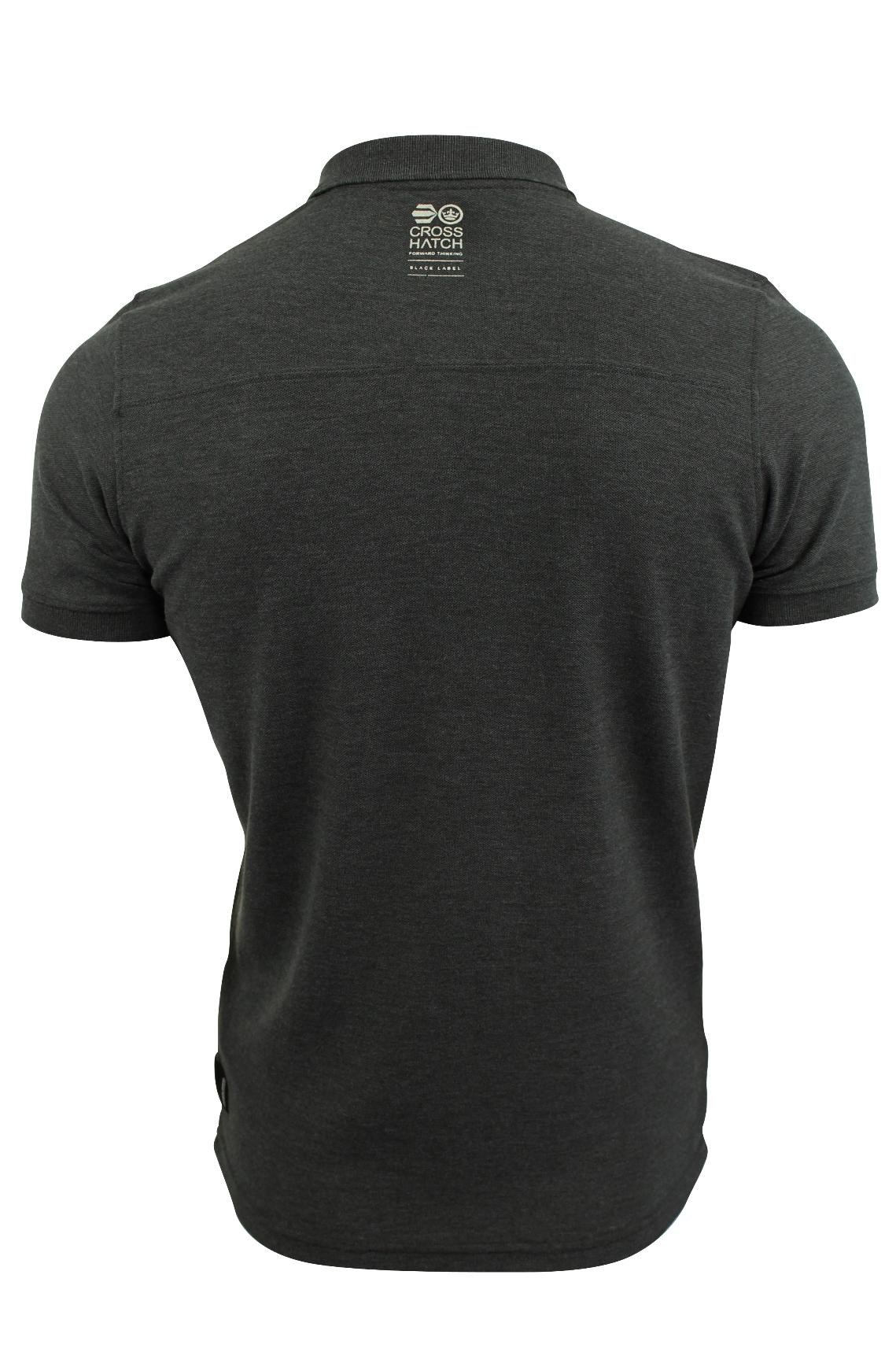 Camisa-Polo-Para-Hombre-De-Crosshatch-039-matriz-de-dos-Manga-corta-039 miniatura 5
