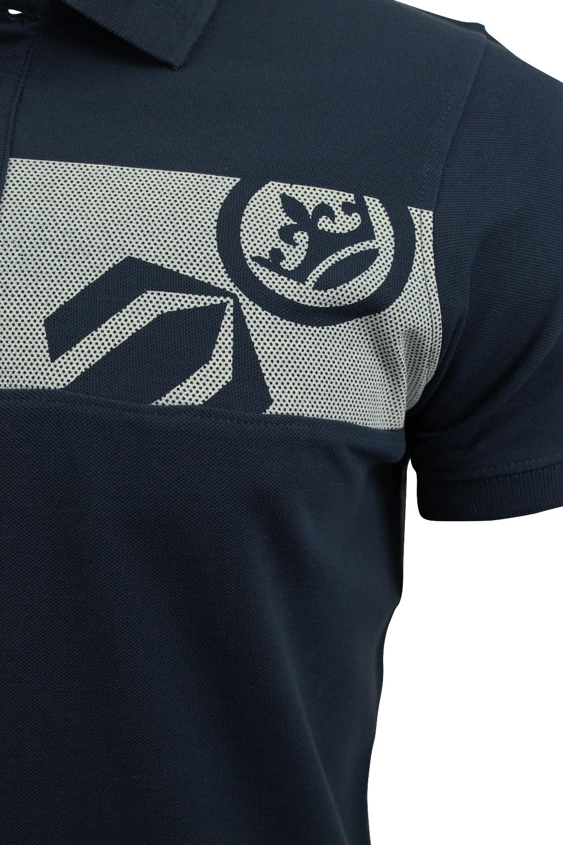 Camisa-Polo-Para-Hombre-De-Crosshatch-039-matriz-de-dos-Manga-corta-039 miniatura 7