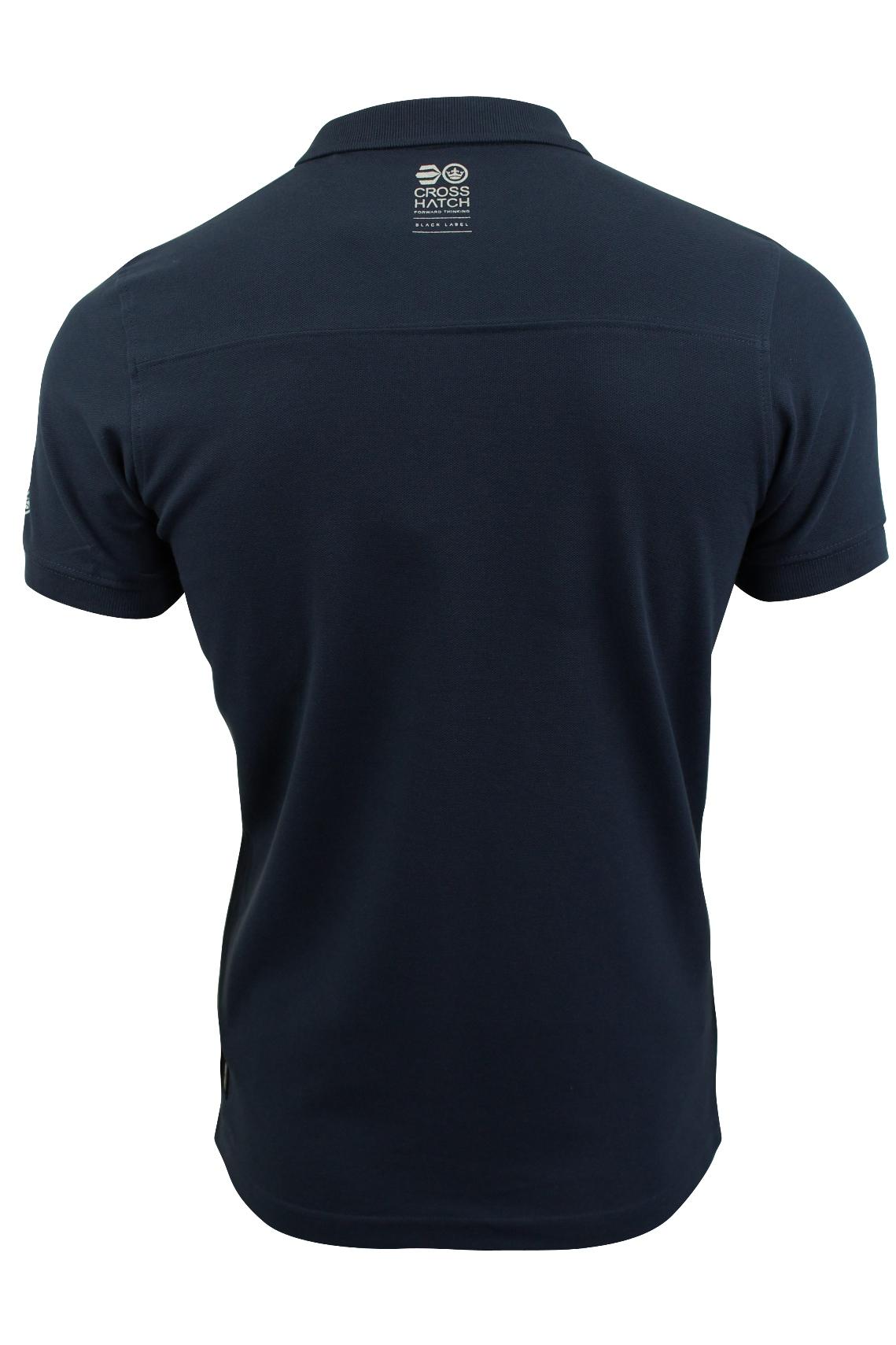 Camisa-Polo-Para-Hombre-De-Crosshatch-039-matriz-de-dos-Manga-corta-039 miniatura 8