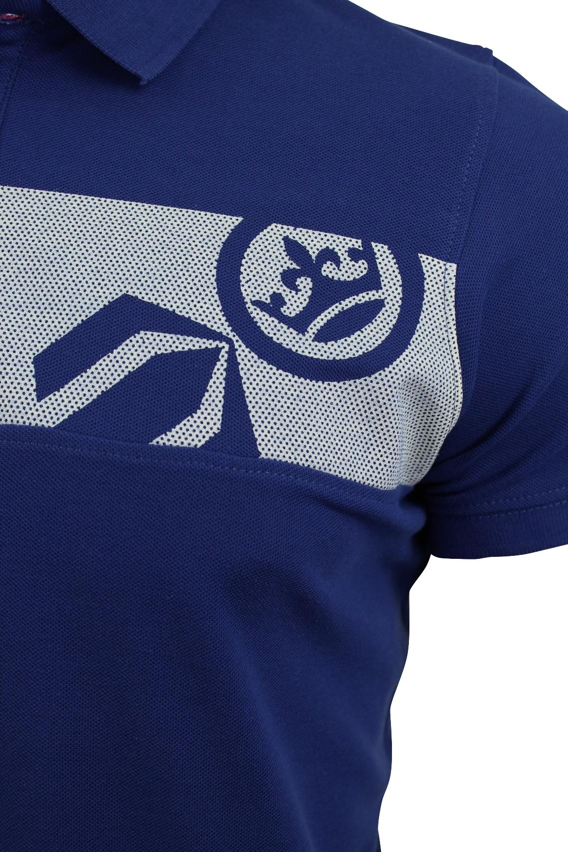 Camisa-Polo-Para-Hombre-De-Crosshatch-039-matriz-de-dos-Manga-corta-039 miniatura 10