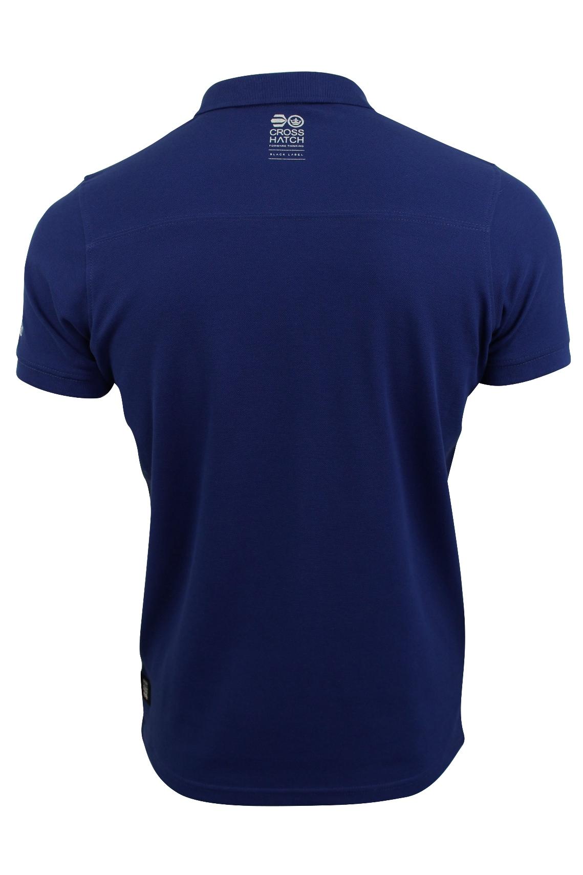 Camisa-Polo-Para-Hombre-De-Crosshatch-039-matriz-de-dos-Manga-corta-039 miniatura 11