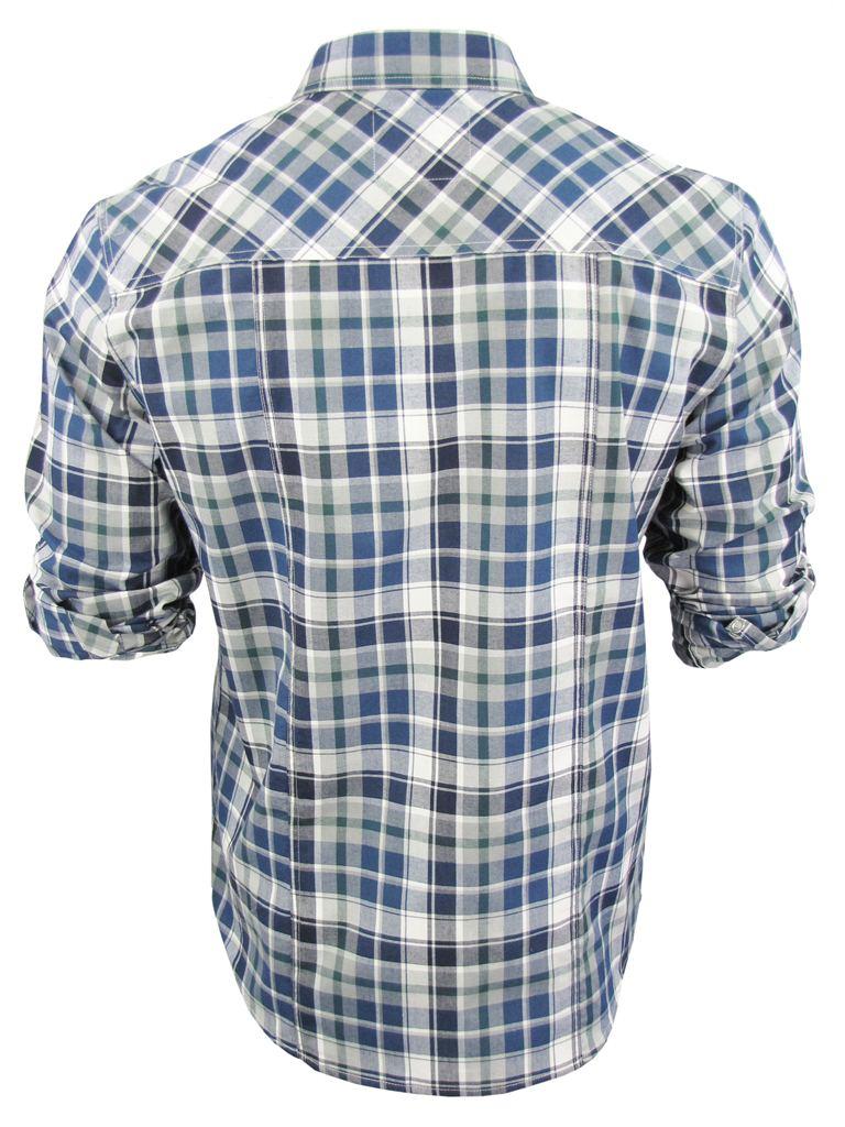 Camisa-Caballero-Cuadros-Dissident-039-Vega-039-Manga-Enrrolla