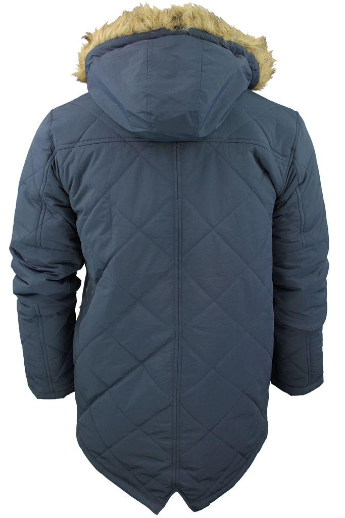3e16717d4 Details about Mens Brave Soul Quilted Padded Parka Jacket/ Coat  'Cheltenham' Hoddie/ Hooded
