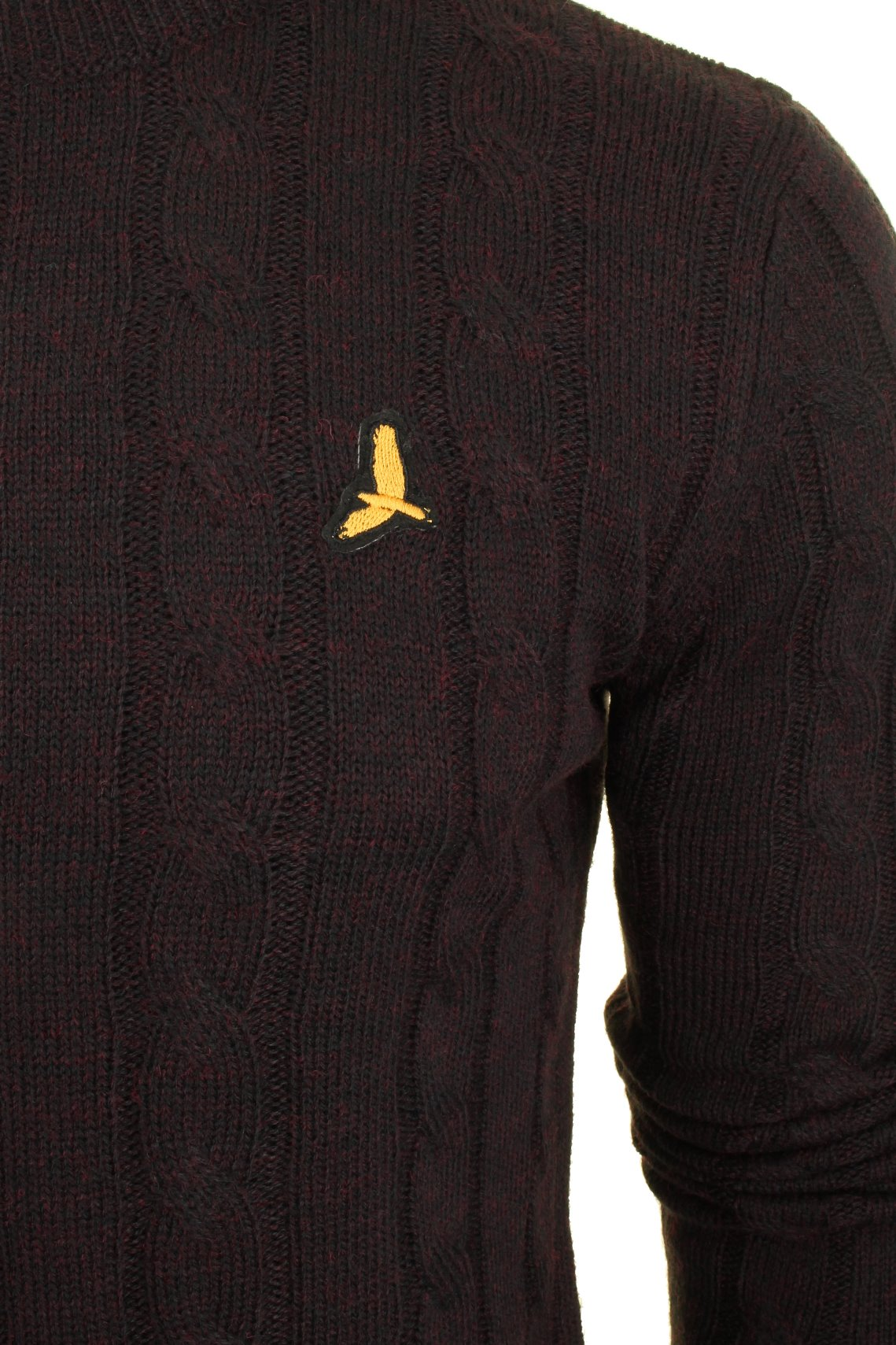Brave-Soul-039-Maoism-039-Mens-Cable-Knit-Jumper thumbnail 4