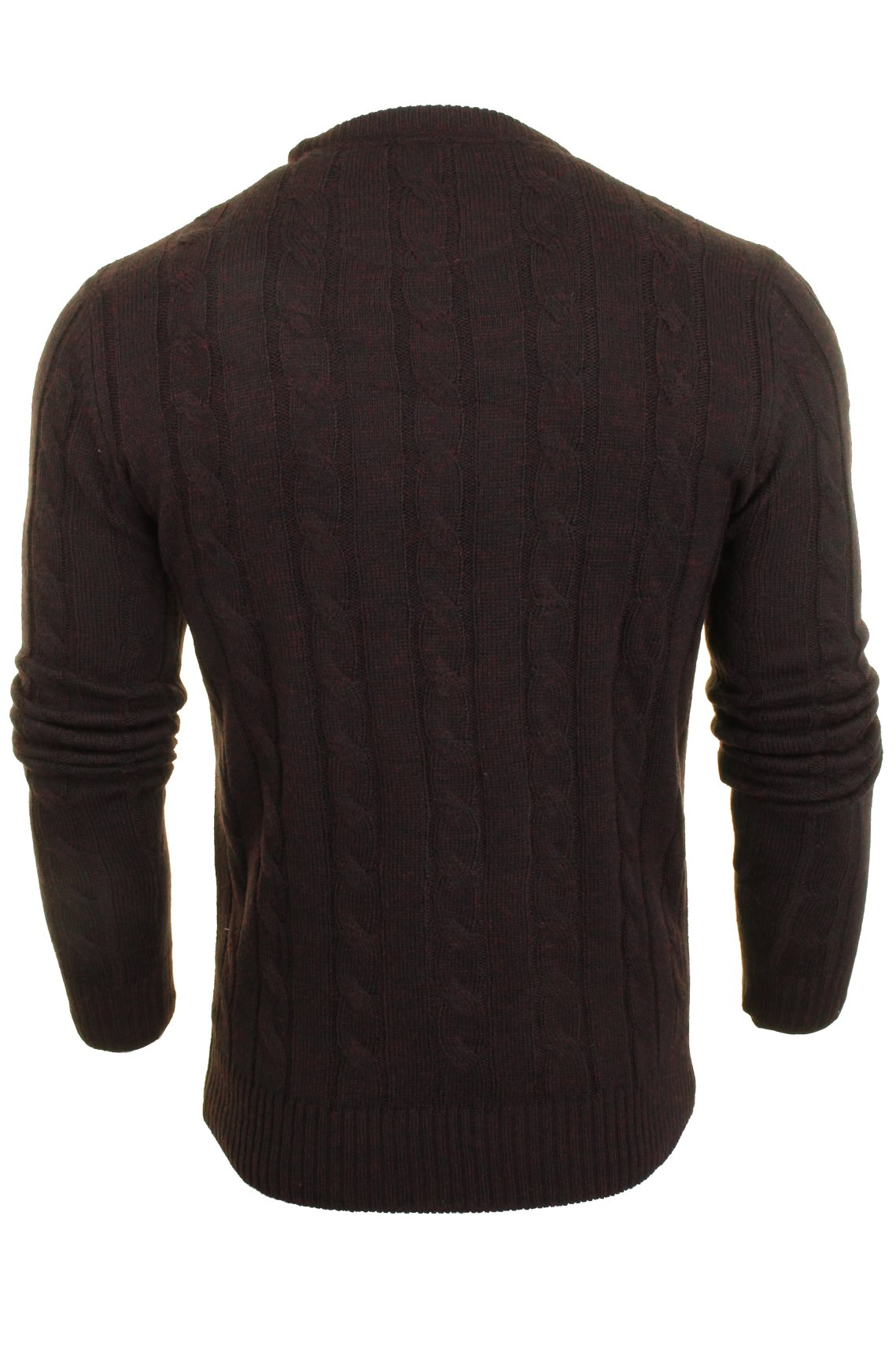 Brave-Soul-039-Maoism-039-Mens-Cable-Knit-Jumper thumbnail 5
