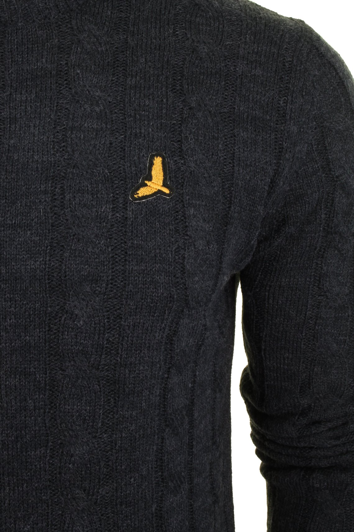 Brave-Soul-039-Maoism-039-Mens-Cable-Knit-Jumper thumbnail 7