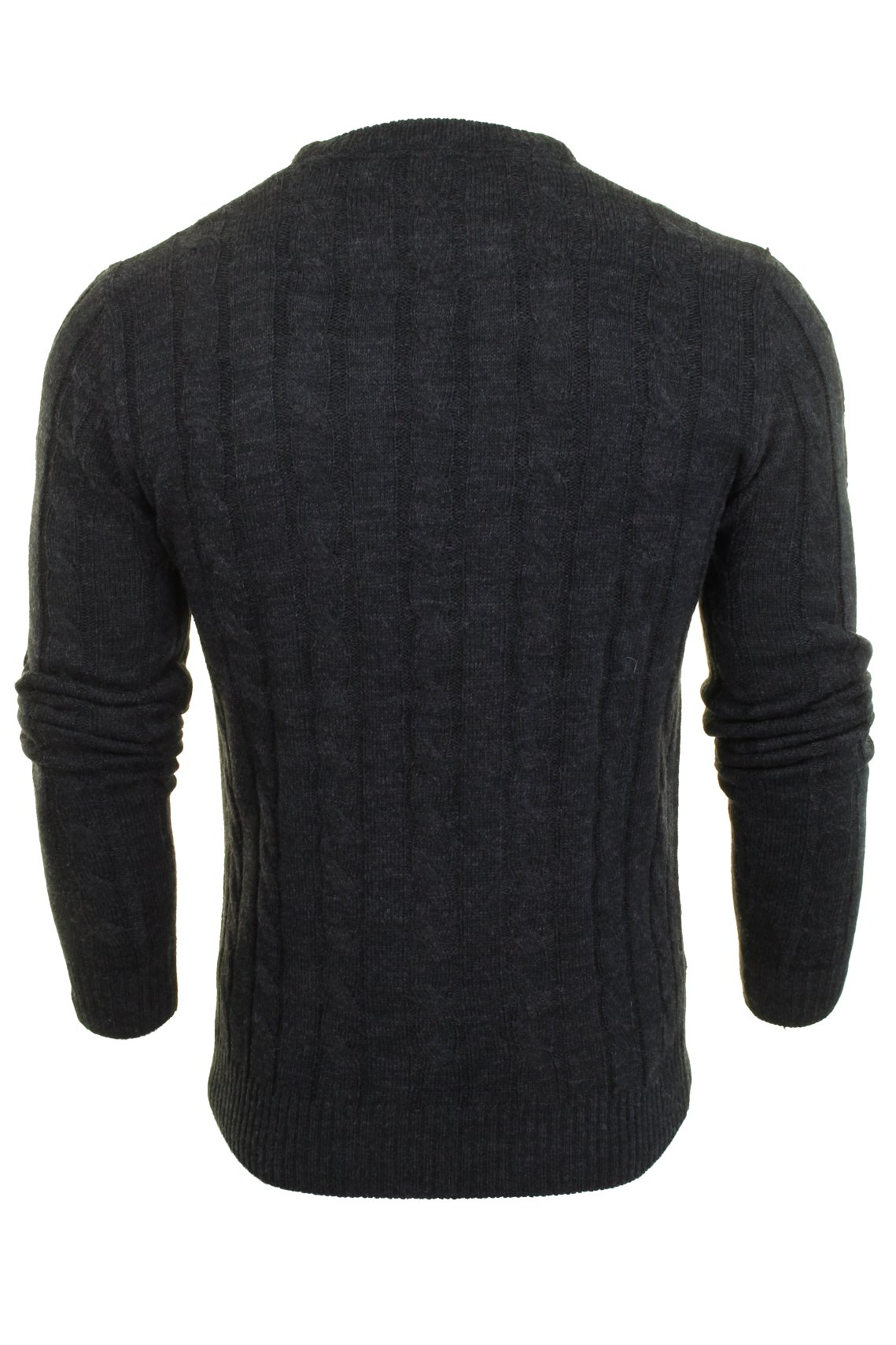 Brave-Soul-039-Maoism-039-Mens-Cable-Knit-Jumper thumbnail 8