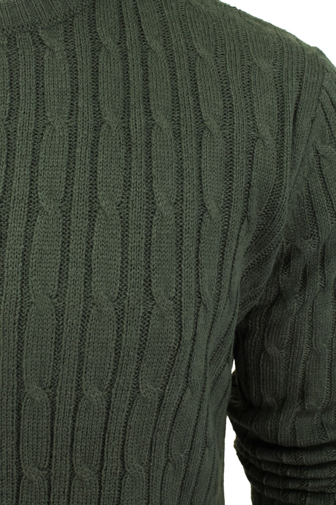 Mens-Jumper-by-Brave-Soul-039-MAO-039-Cable-Knit-Crew-Neck thumbnail 4