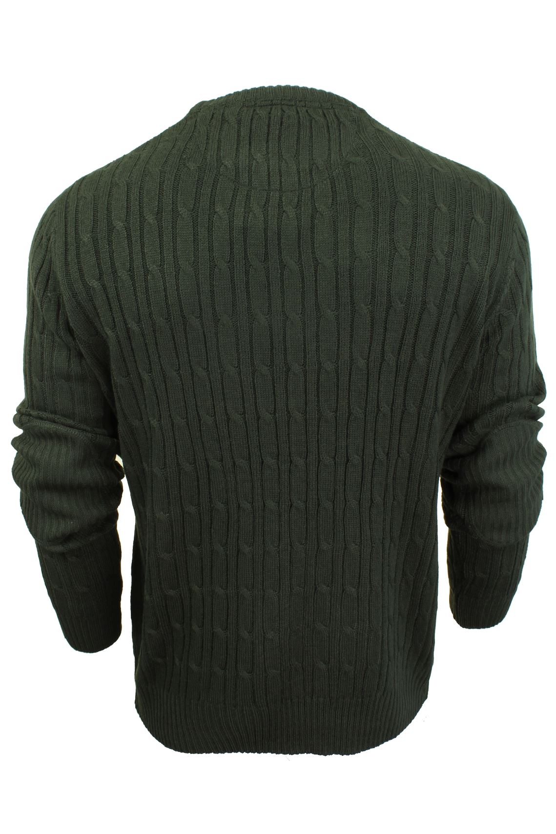 Mens-Jumper-by-Brave-Soul-039-MAO-039-Cable-Knit-Crew-Neck thumbnail 5