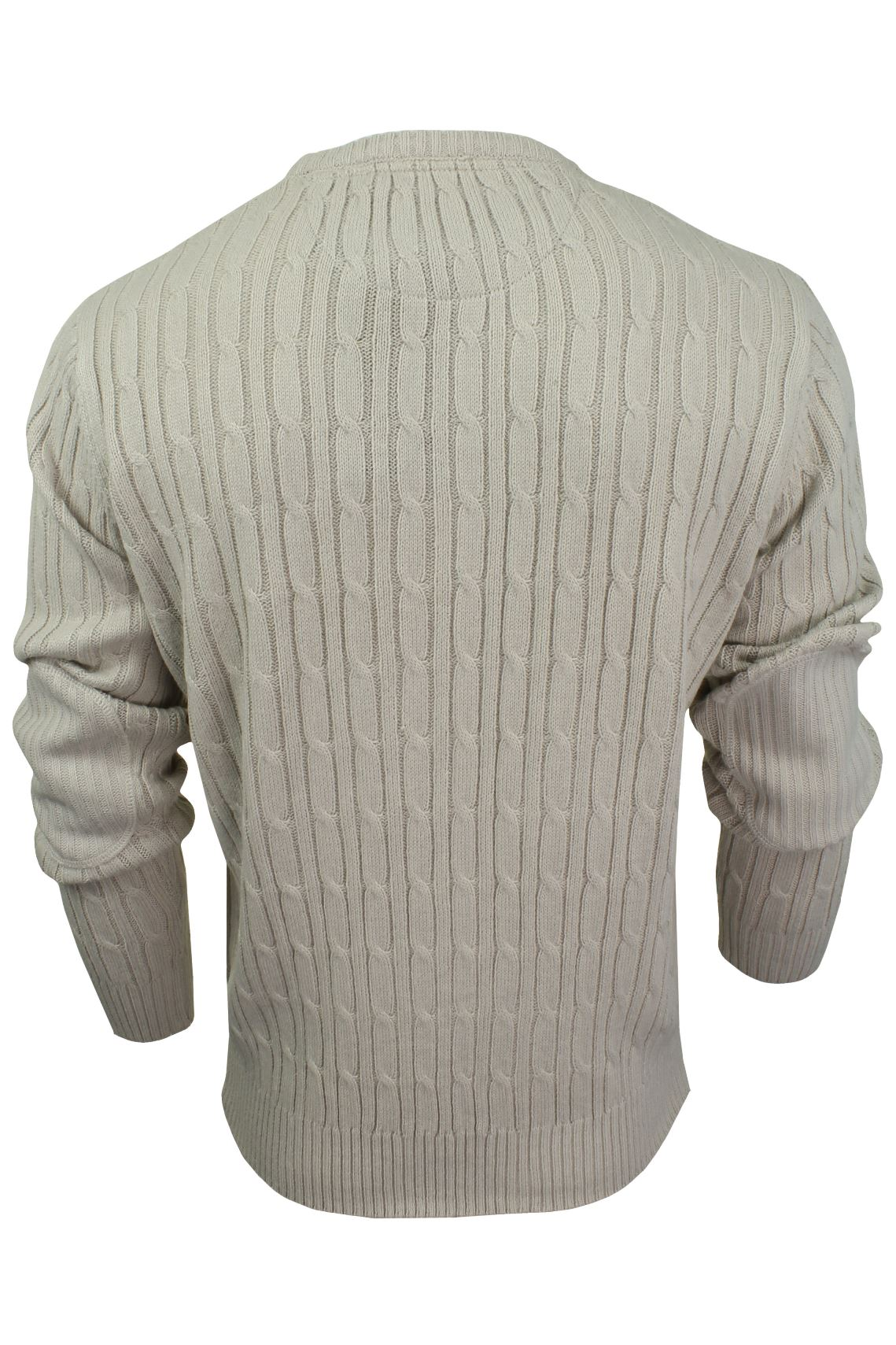Mens-Jumper-by-Brave-Soul-039-MAO-039-Cable-Knit-Crew-Neck thumbnail 8