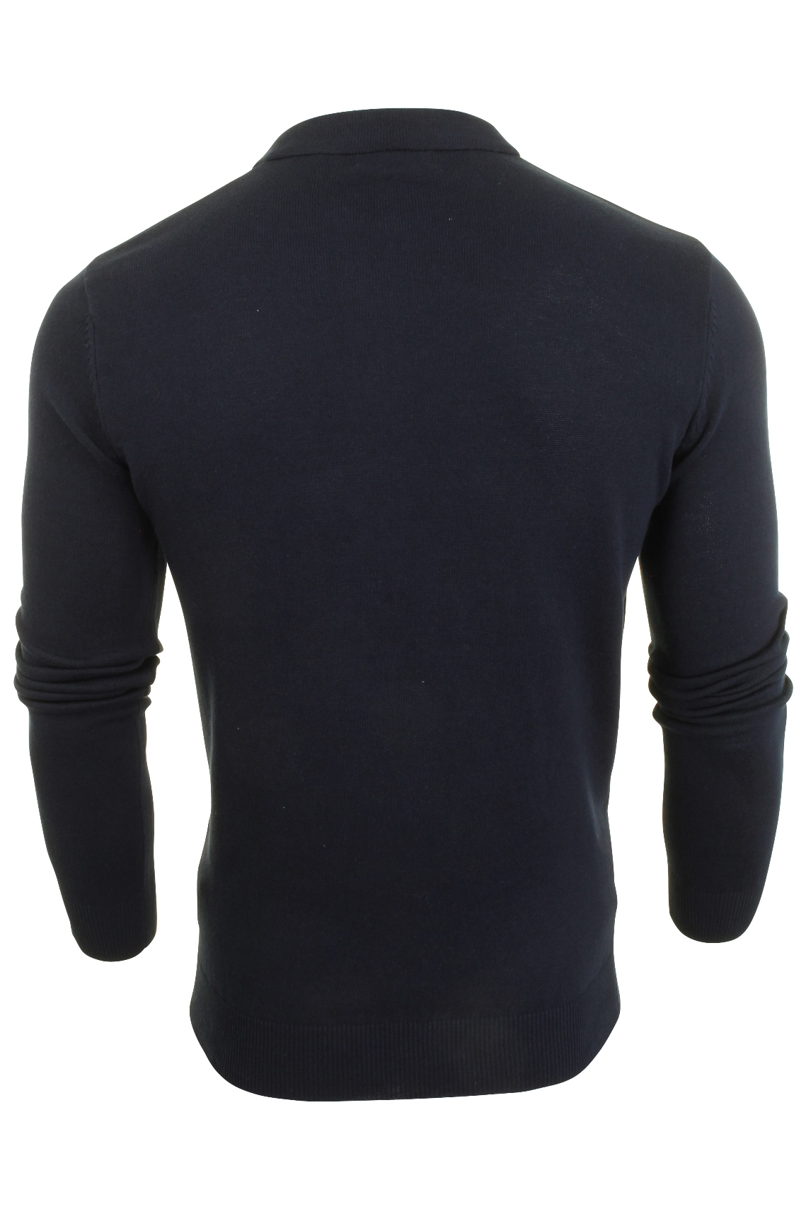 Mens-Knitted-Polo-Shirt-by-Brave-Soul-Long-Sleeved thumbnail 11