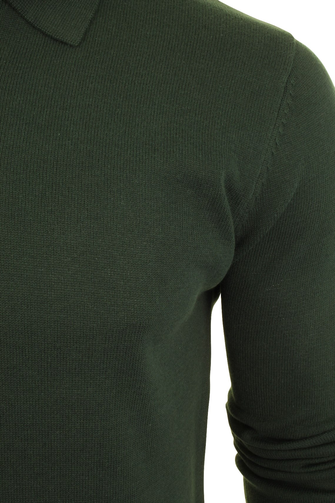 Mens-Knitted-Polo-Shirt-by-Brave-Soul-Long-Sleeved thumbnail 16
