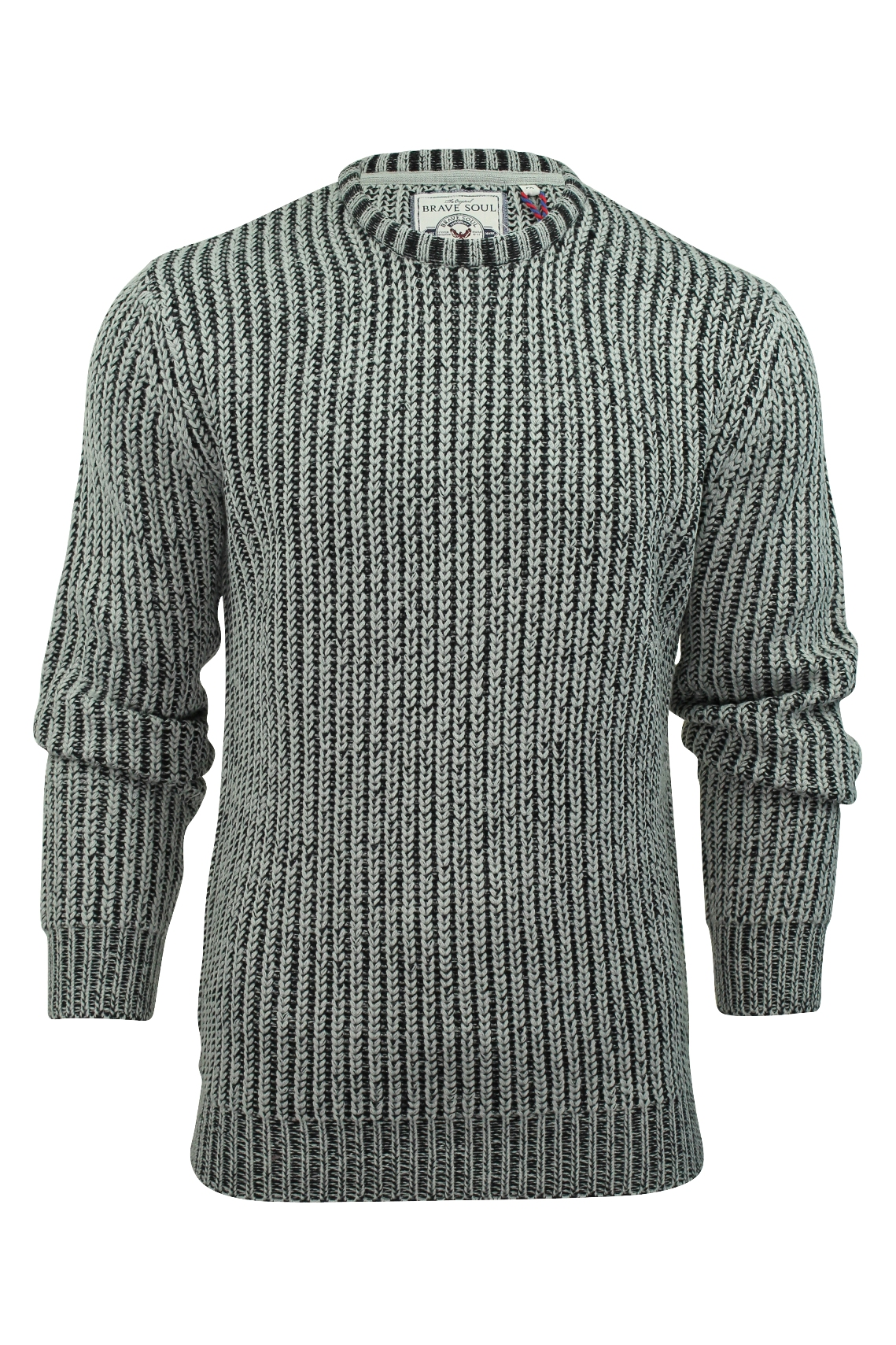 Mens Jumper Brave Soul  Dawkins  Knit Crew Neck Sweater   eBay d2f4d0f557