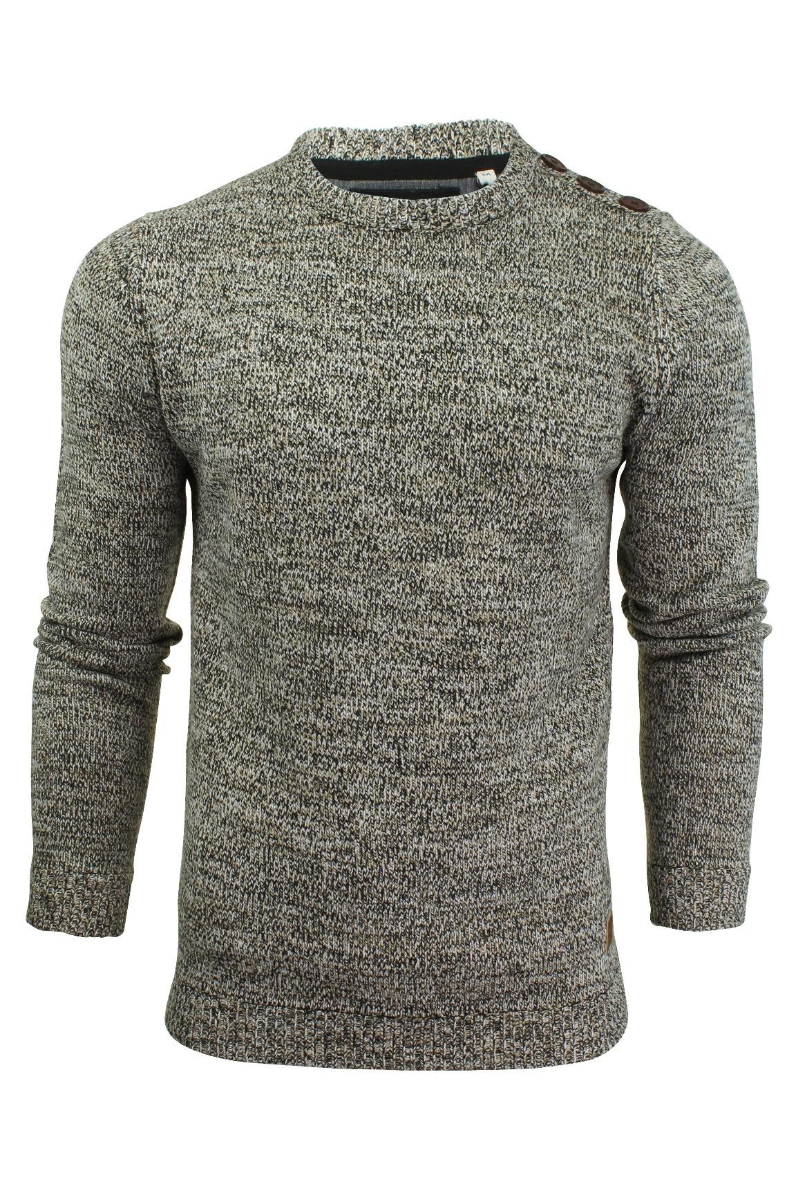 Détails sur Pull à tricot plat et col à ras du cou par Brave Soul pour homme