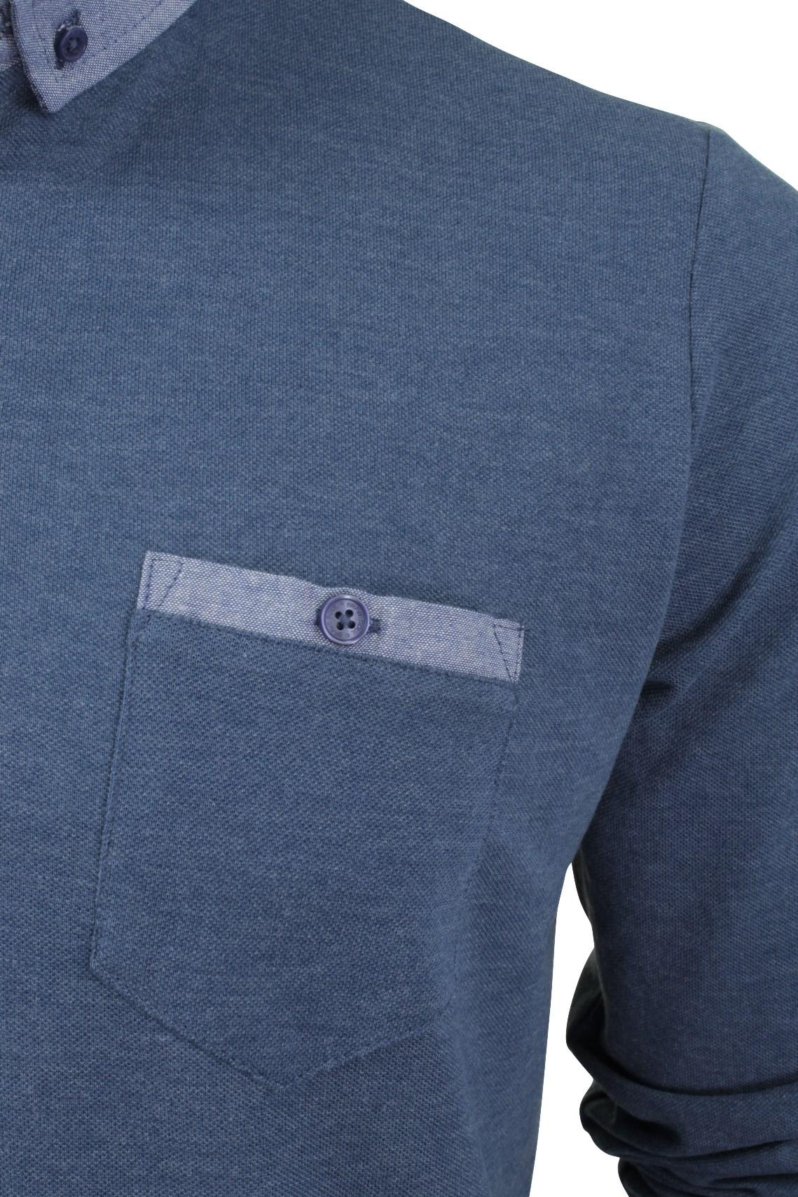 Camisa-Polo-Para-Hombre-Por-Brave-Soul-Golf-De-Mangas-Largas-Informal miniatura 27
