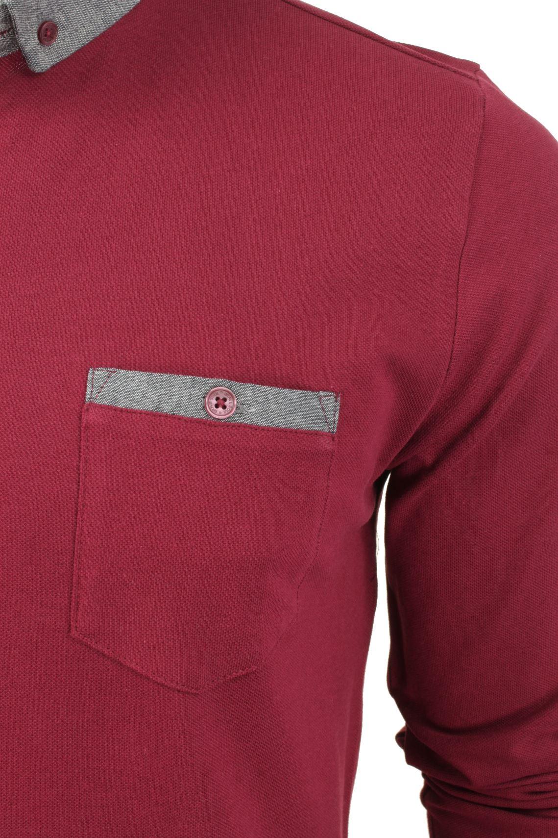 Camisa-Polo-Para-Hombre-Por-Brave-Soul-Golf-De-Mangas-Largas-Informal miniatura 21
