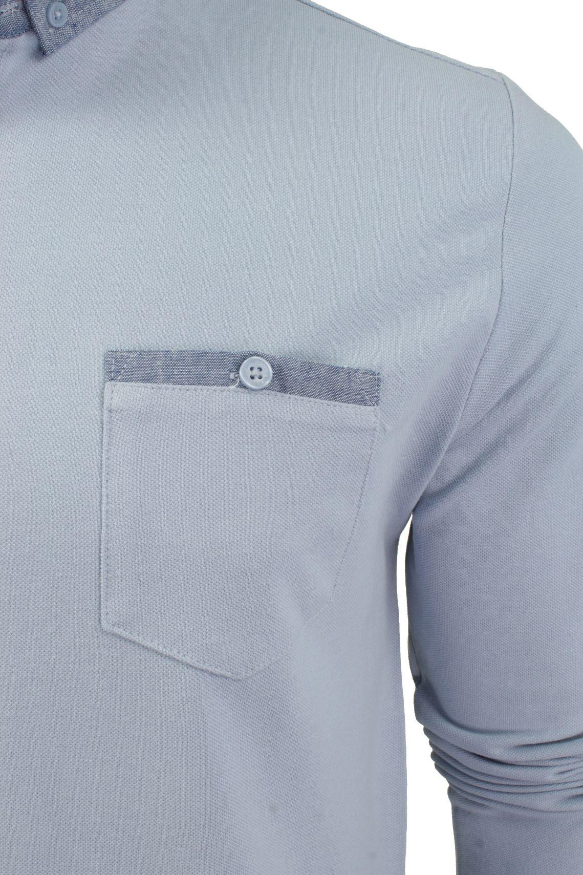 Camisa-Polo-Para-Hombre-Por-Brave-Soul-Golf-De-Mangas-Largas-Informal miniatura 10