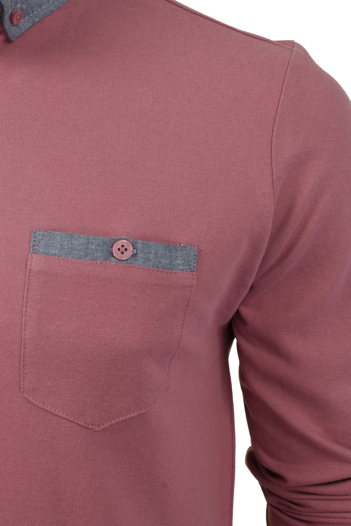 Camisa-Polo-Para-Hombre-Por-Brave-Soul-Golf-De-Mangas-Largas-Informal miniatura 30
