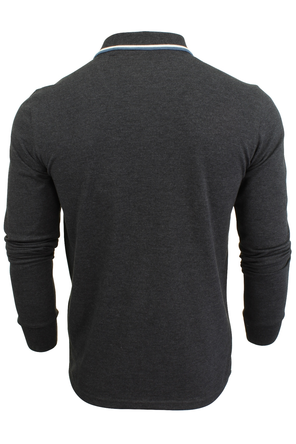 Mens-Polo-T-Shirt-by-Brave-Soul-039-Kennedy-039-Tipped-Collar-Long-Sleeved thumbnail 5