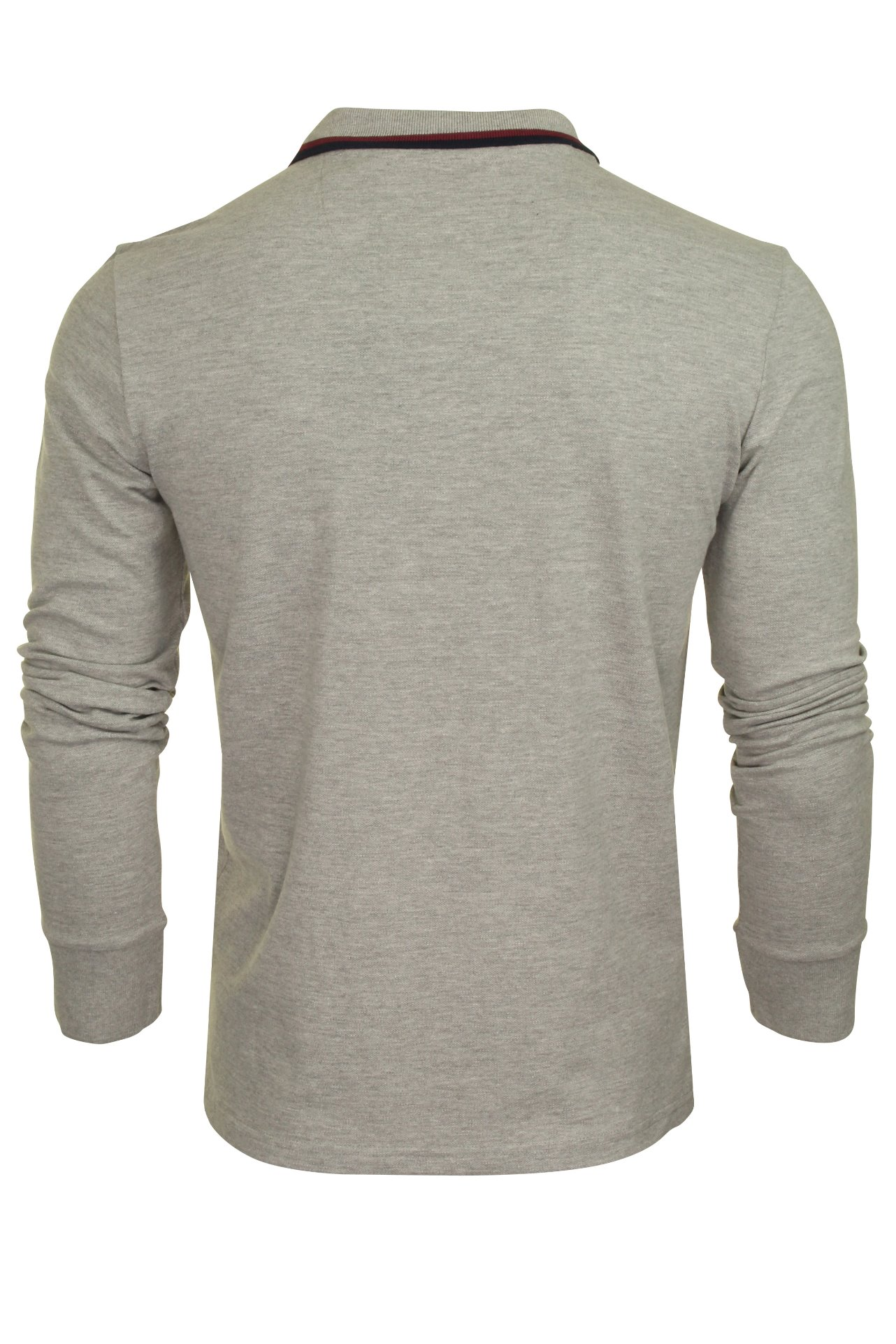 Mens-Polo-T-Shirt-by-Brave-Soul-039-Kennedy-039-Tipped-Collar-Long-Sleeved thumbnail 11